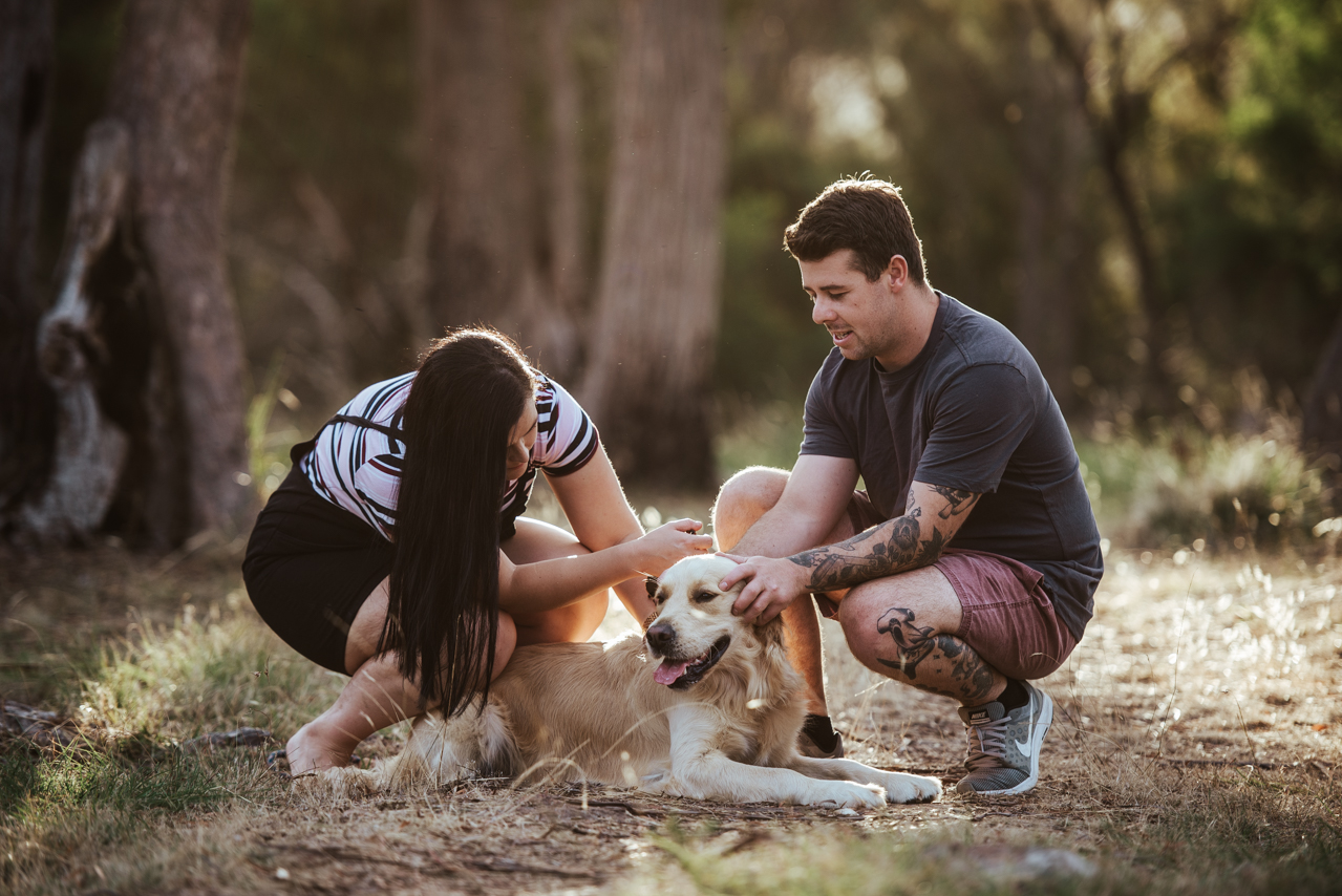launceston couples session with dog