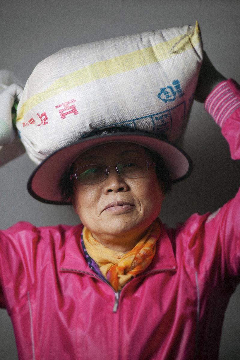 Portrait with Bag on Head