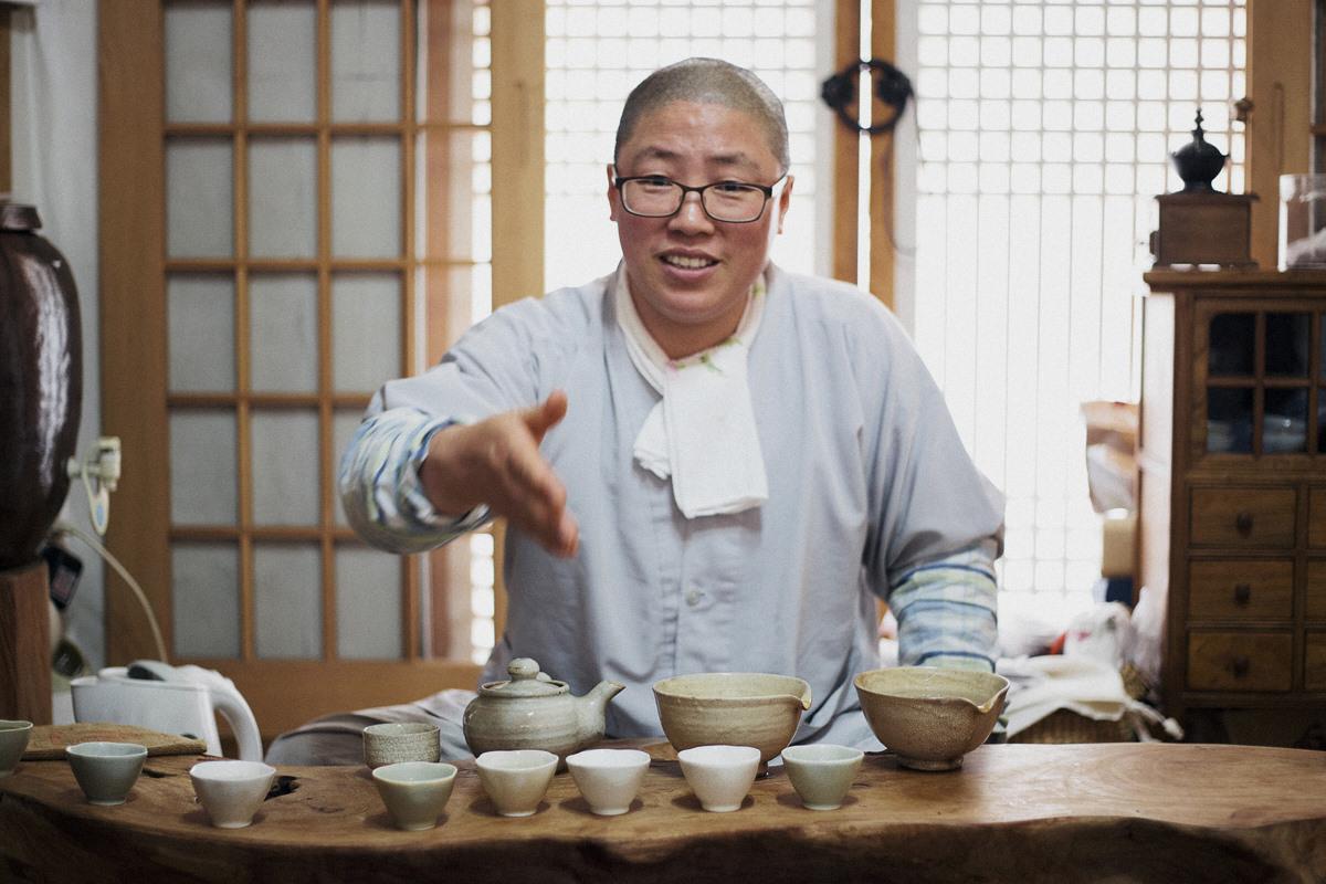 Monk Serves Tea