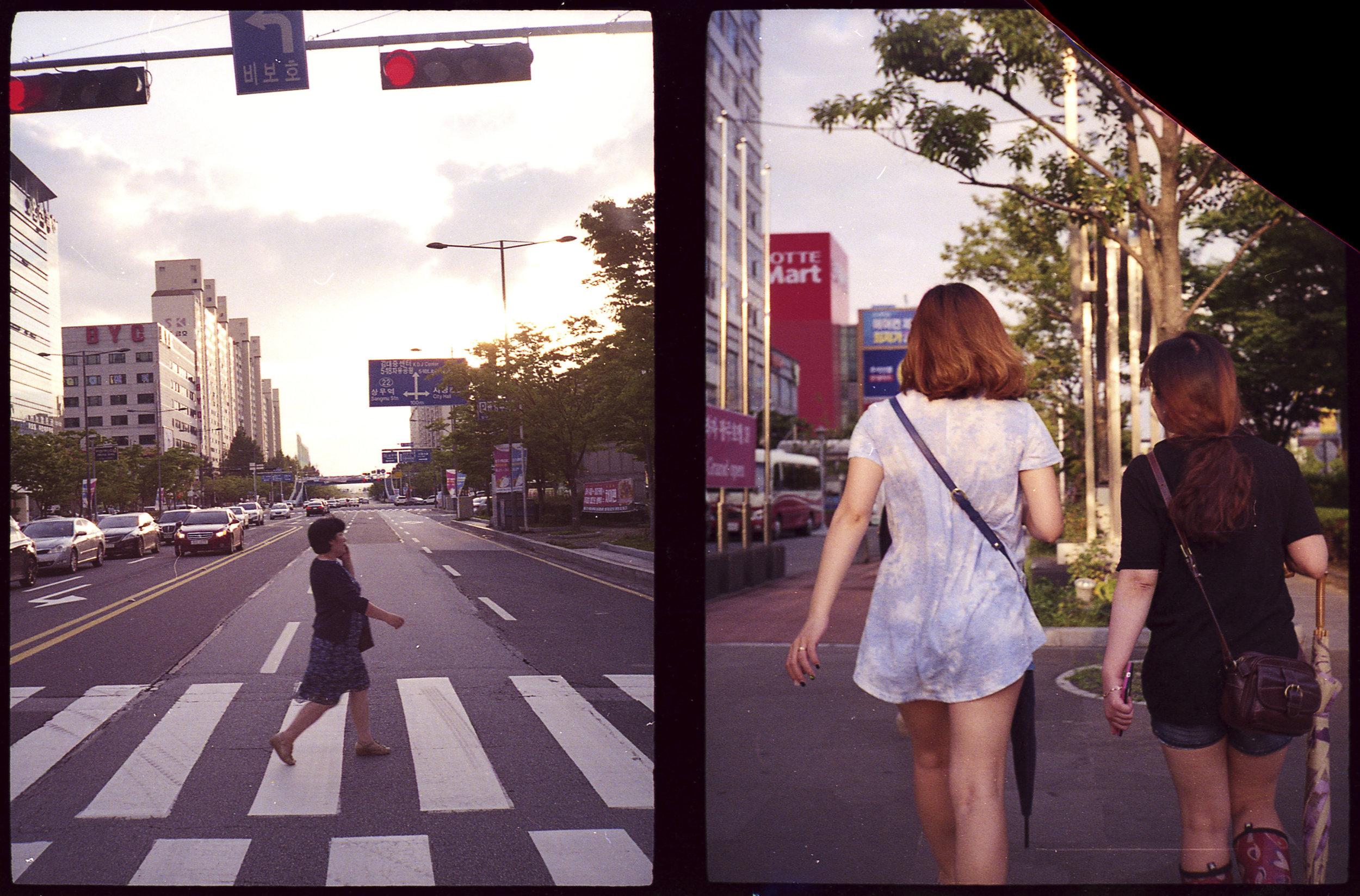 Walking to Lotte Mart