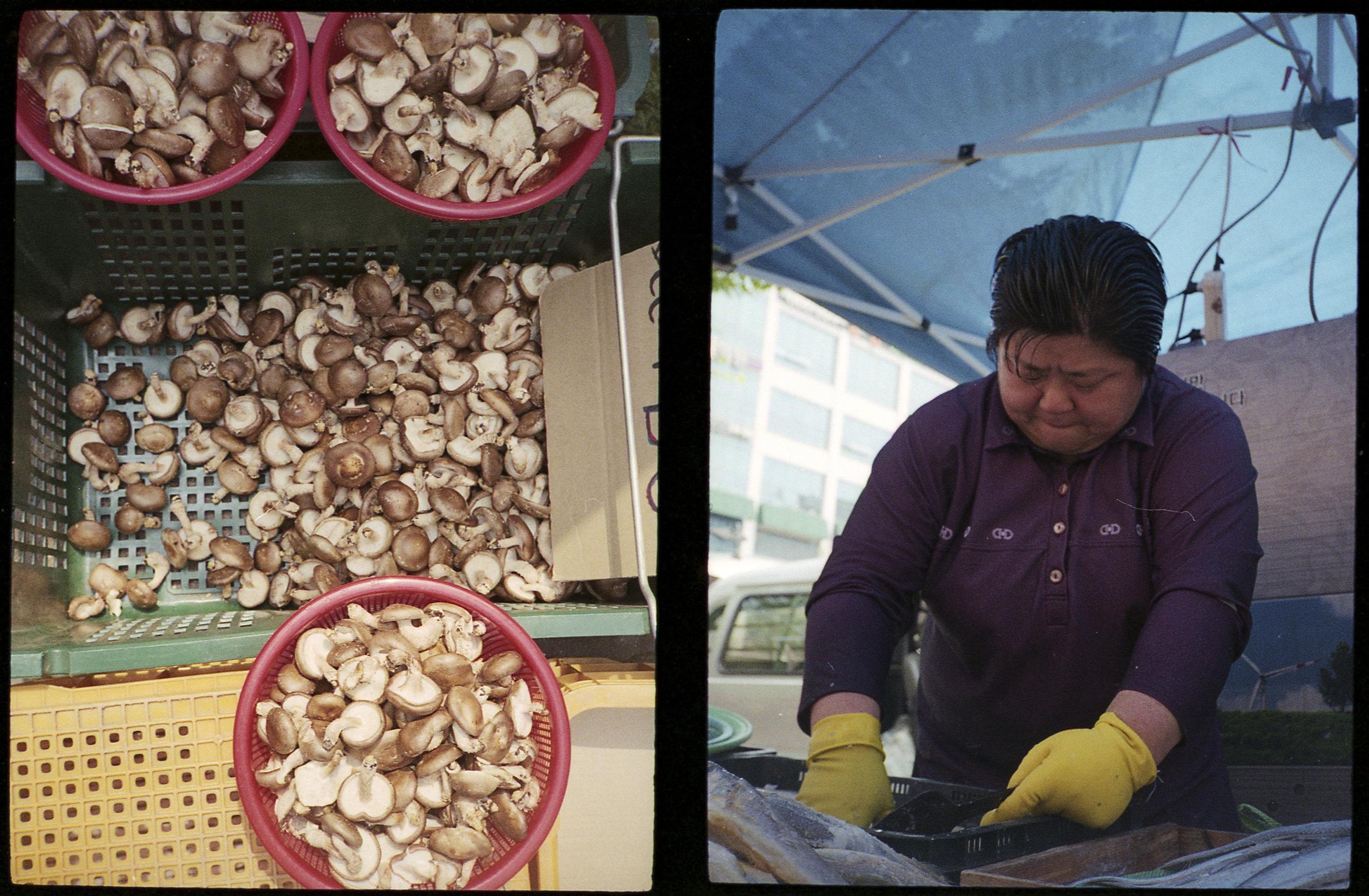 Mushrooms and Fish Vendor