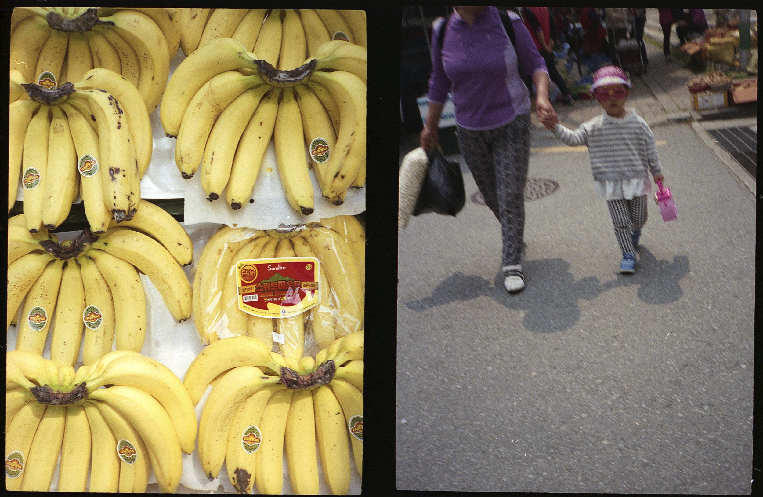 Bananas and Stylish Kid