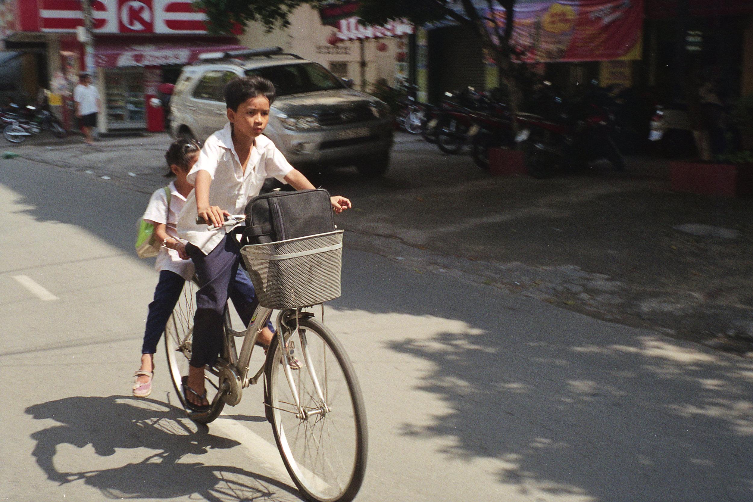 Two Kids on Bike