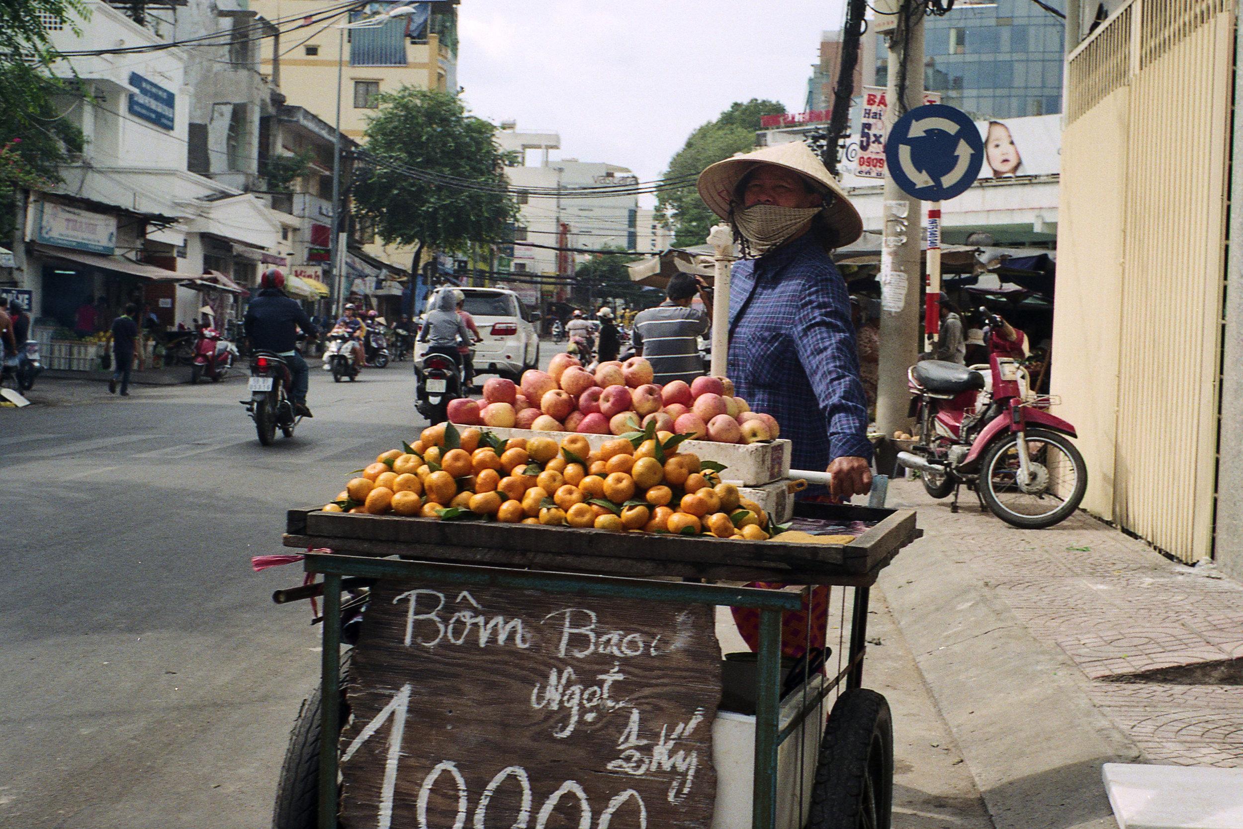 Ho Chi Minh Fruit Vendor