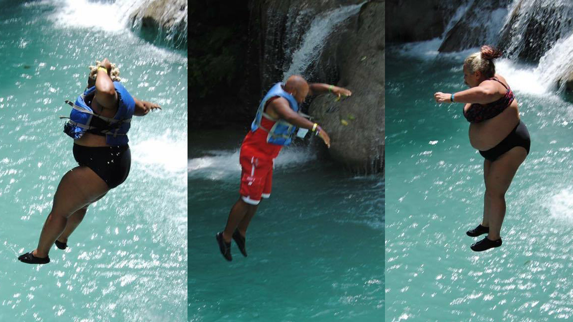 Blue Hole Was No Match - Blue Hole was no match for our group of adventurous people. One by one they took the plunge. You can have a blast at any size! Don't let them tell you