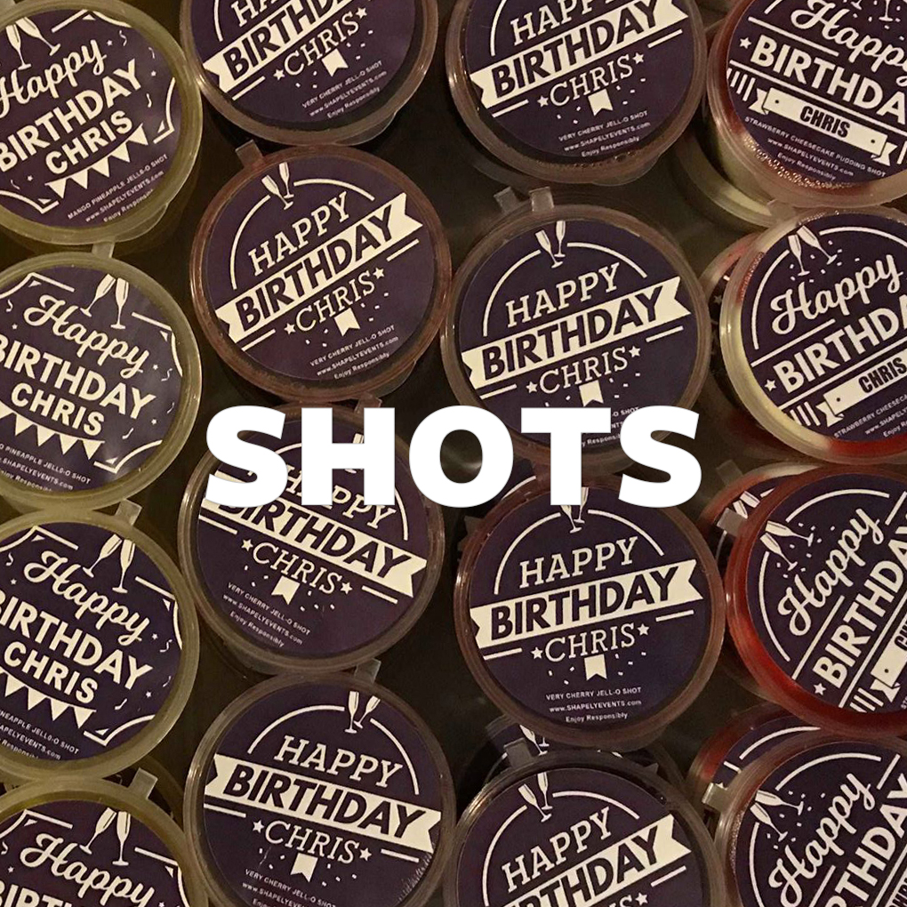 Well who doesn't love a good gelatin shot? Ours go beyond good, most consider them gourmet. Turn up the class with our gourmet gelatin and pudding shots available in standard and customizable packaging.  Learn More>>