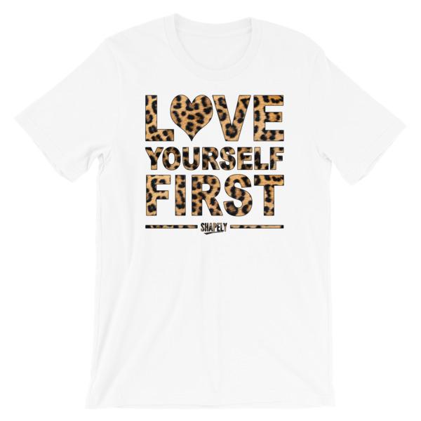 Love Yourself Leopard Print Tee