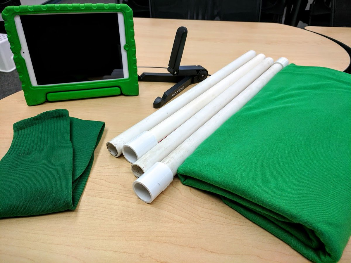Great items to have when you are creating your next Green Screen video.