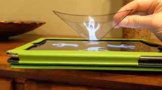 Holograms, this one haunted, can makes animations move off the iPad