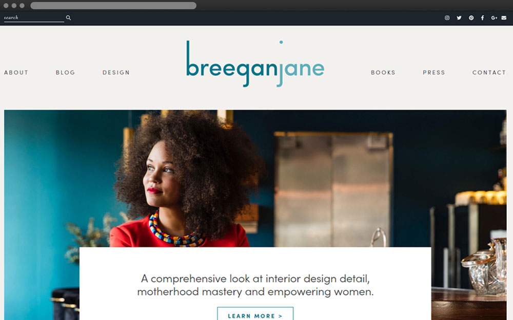 Breegan jane - My Duties: PSD to HTML / HTML5 / CSS3 / JavaScript / Responsive / WordPress / PHP & MySQLbreeganjane.com