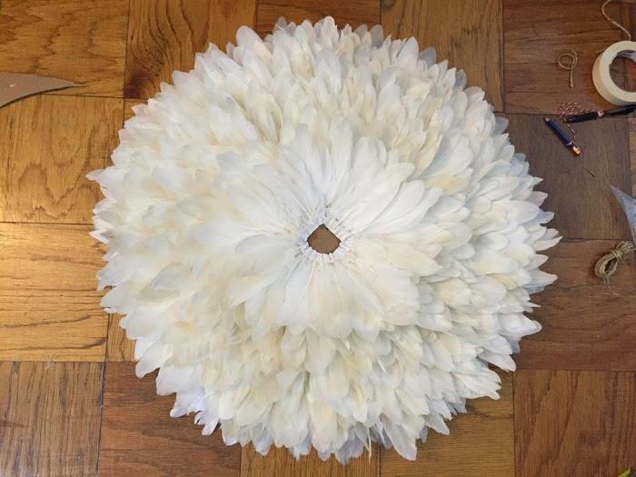 DIY feather headdress, diy african juju hat