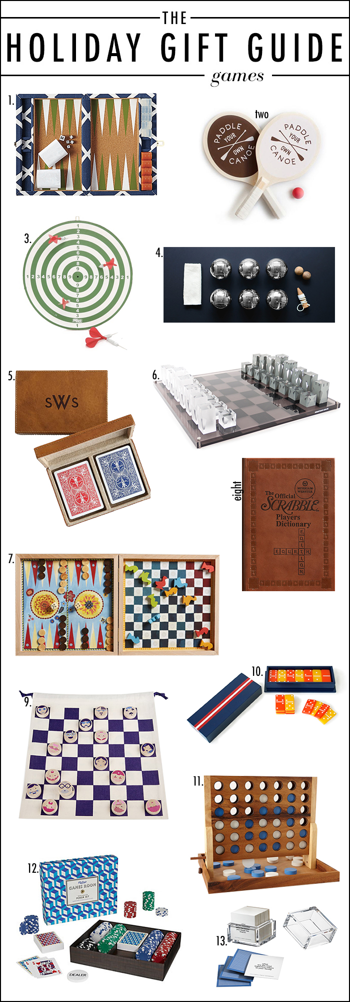 2014 HOLIDAY GIFT GUIDE BOARD GAMES, CHIC BOARD GAMES, BEAUTIFUL BOARD GAMES, STYLISH BOARD GAMES
