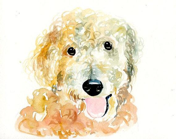 Custom Watercolor Dog