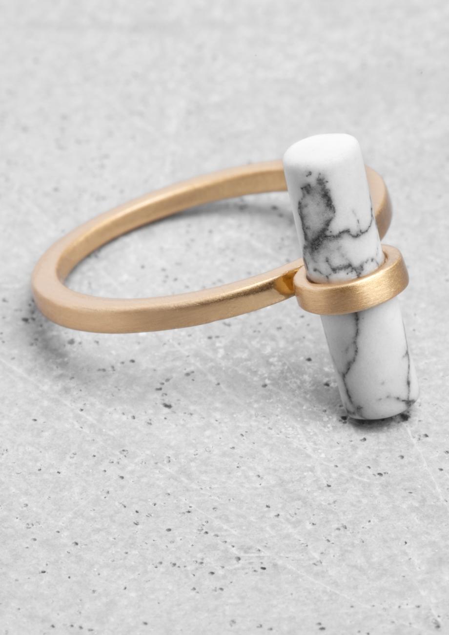 Stone Bar Ring