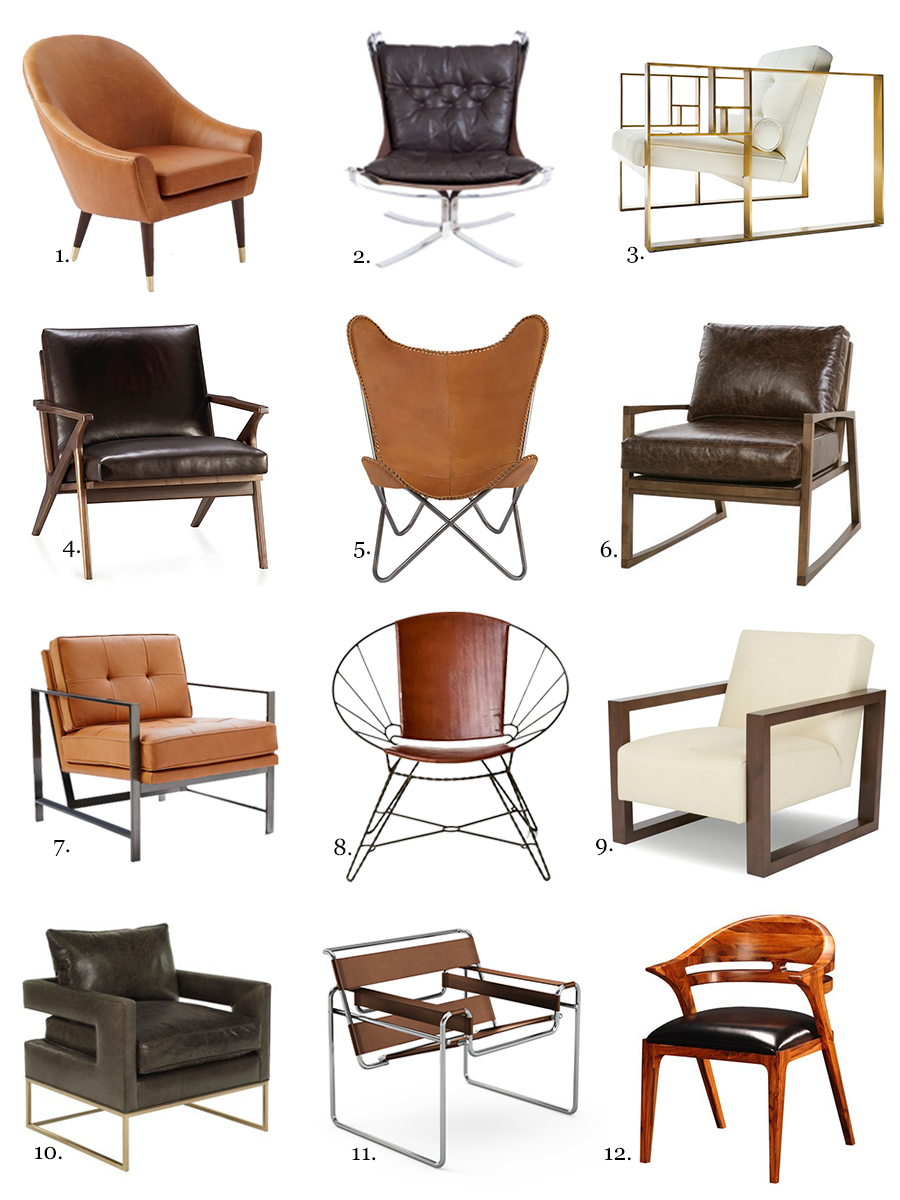 12 Leather Side Chairs