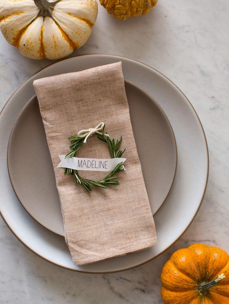 Fall Table Inspiration Napkin Setting