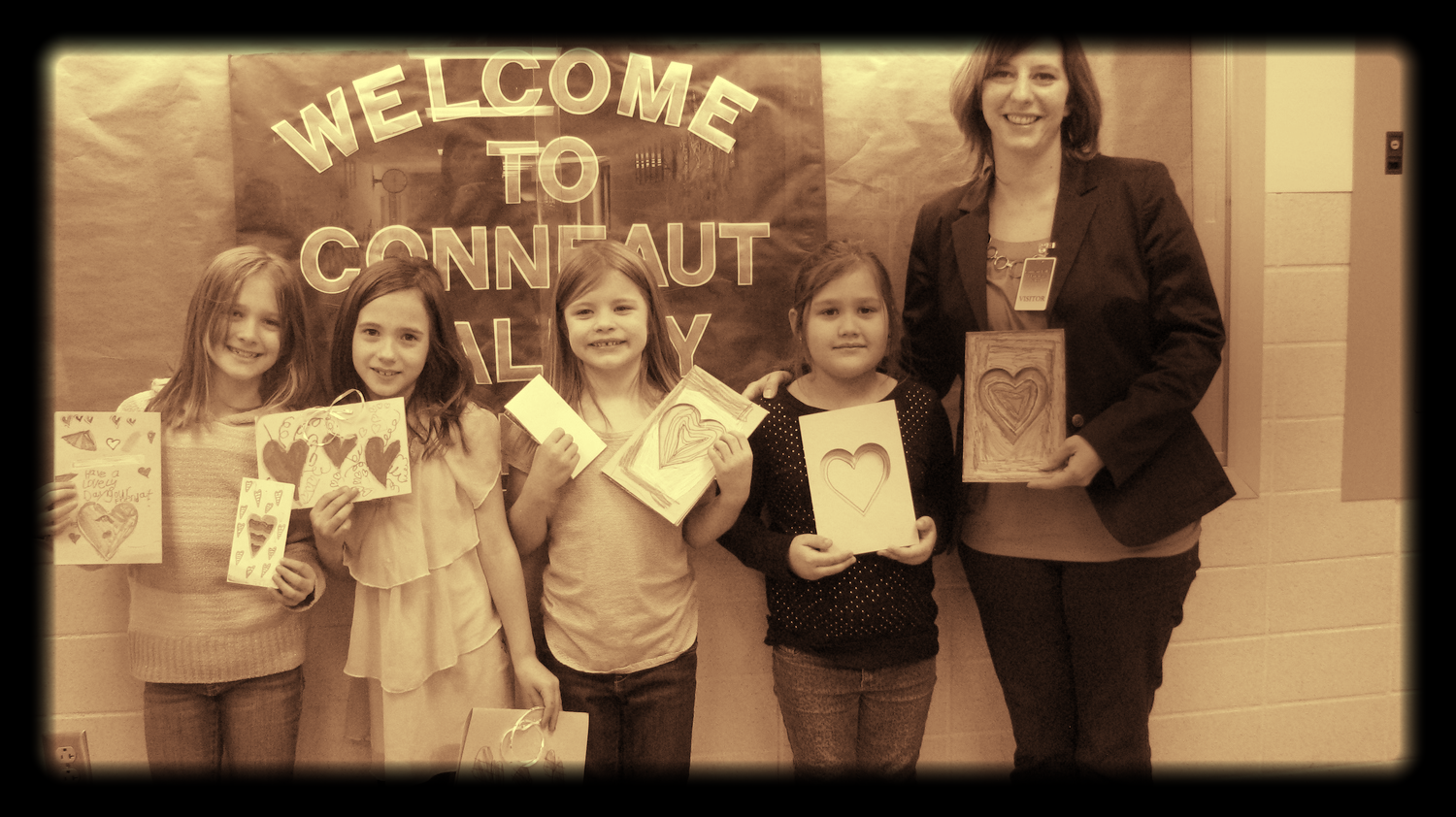 From left to right:  Maria Bonanti, Lexi Potts, Maddie Robertson, Maylie Hart and Cathy Weber.  Missing from the photo:  Kylie Mattera and Olivia Numer