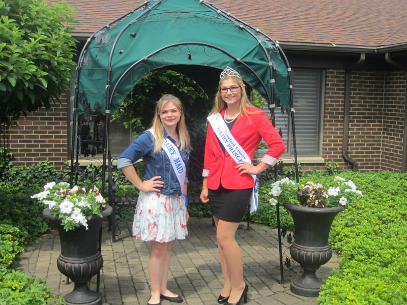 Brook Carey, Crawford County Dairy Princess and Nikayla Peters, Crawford County Dairy Maid joined the elders this afternoon for a tea social and cheese tasting as part of our Celebrate Dairy Week.