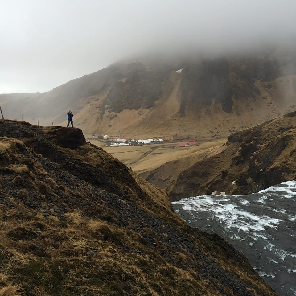 At the top of Skogafoss