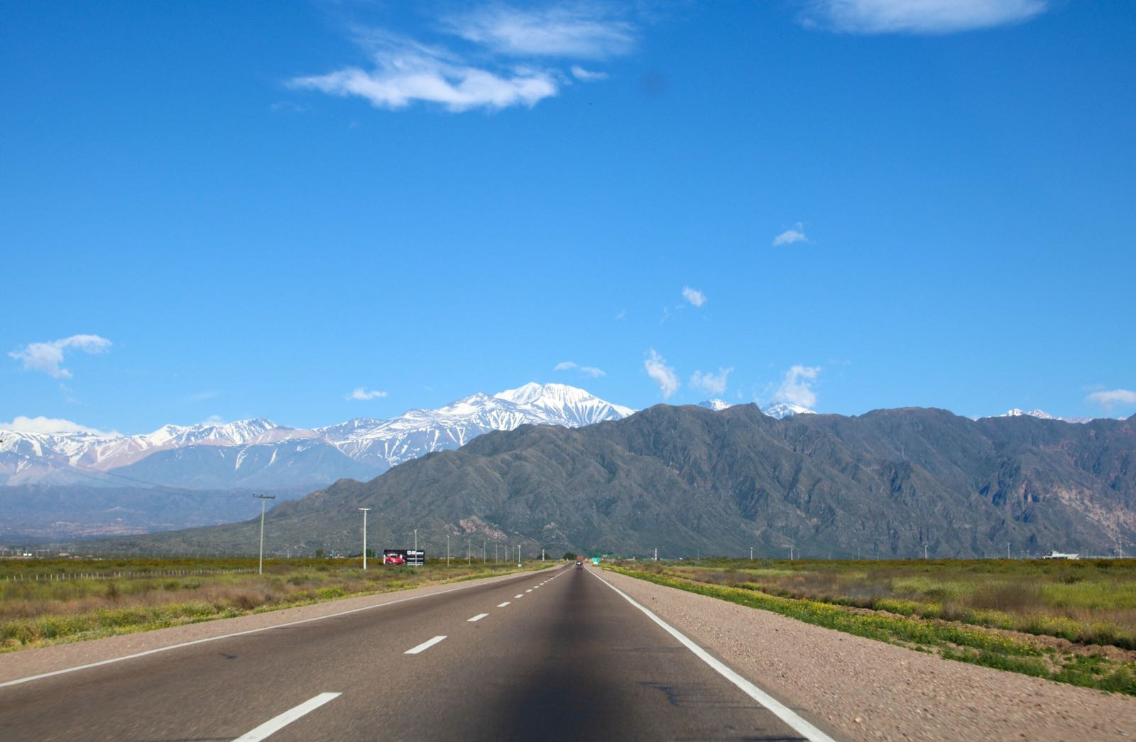 Driving through the Andes