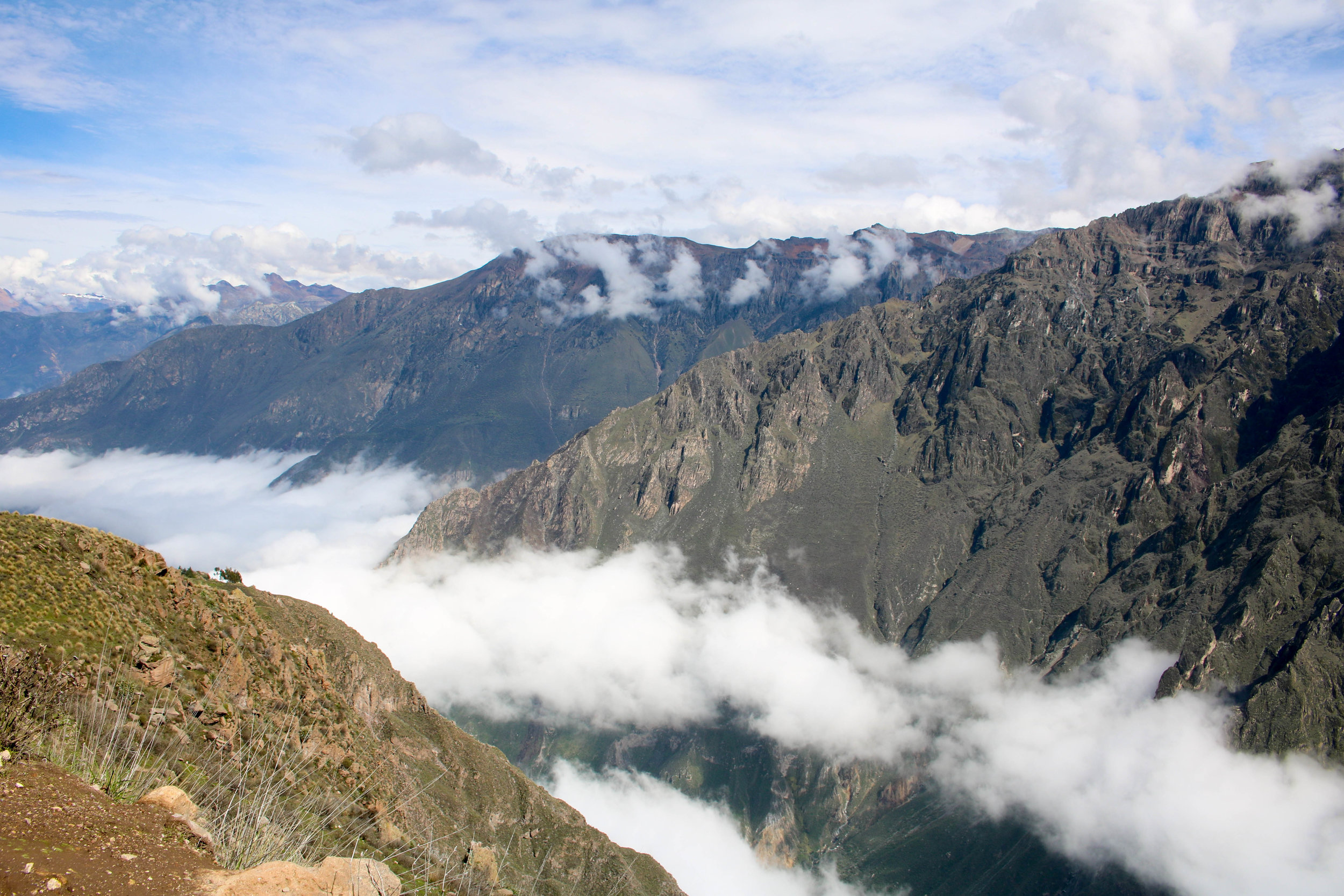 Above the Clouds in Colca Canyon
