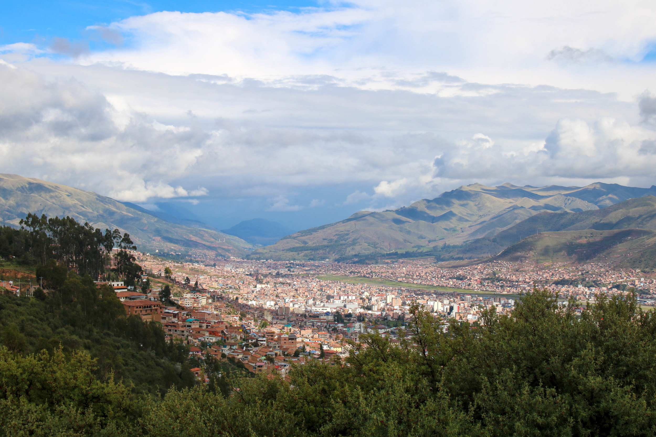 Cusco from Saqsayhuaman in the Sacred Valley, Peru