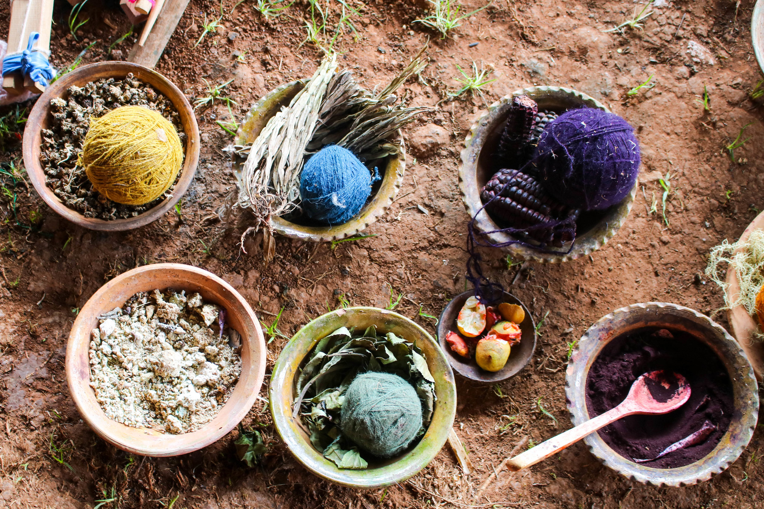 Naturally Dyed Wools in the Sacred Valley, Peru