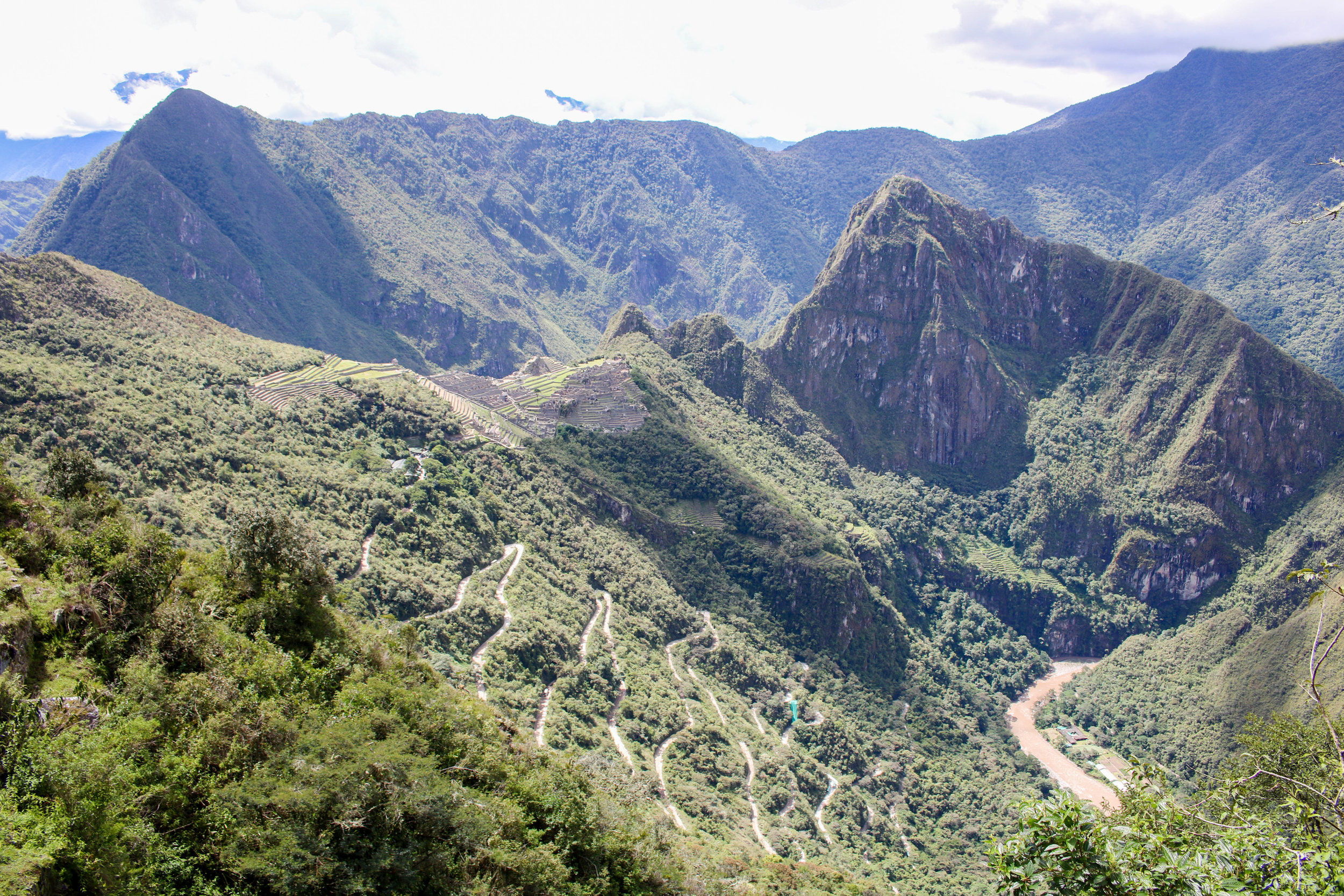 The Road to Machu Picchu from the Sun Gate, Peru