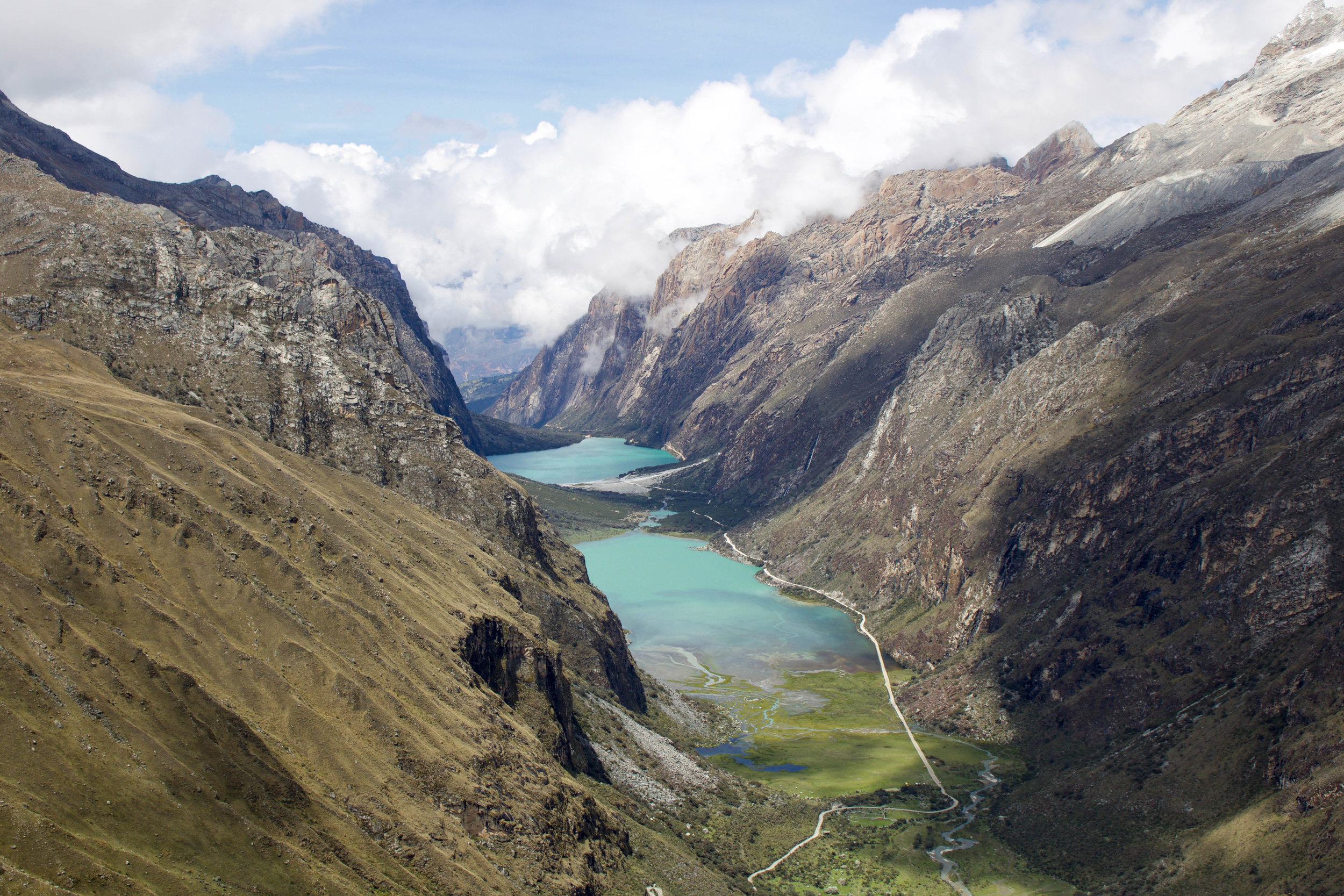 Turquoise Lagoons and Mountains, Peru