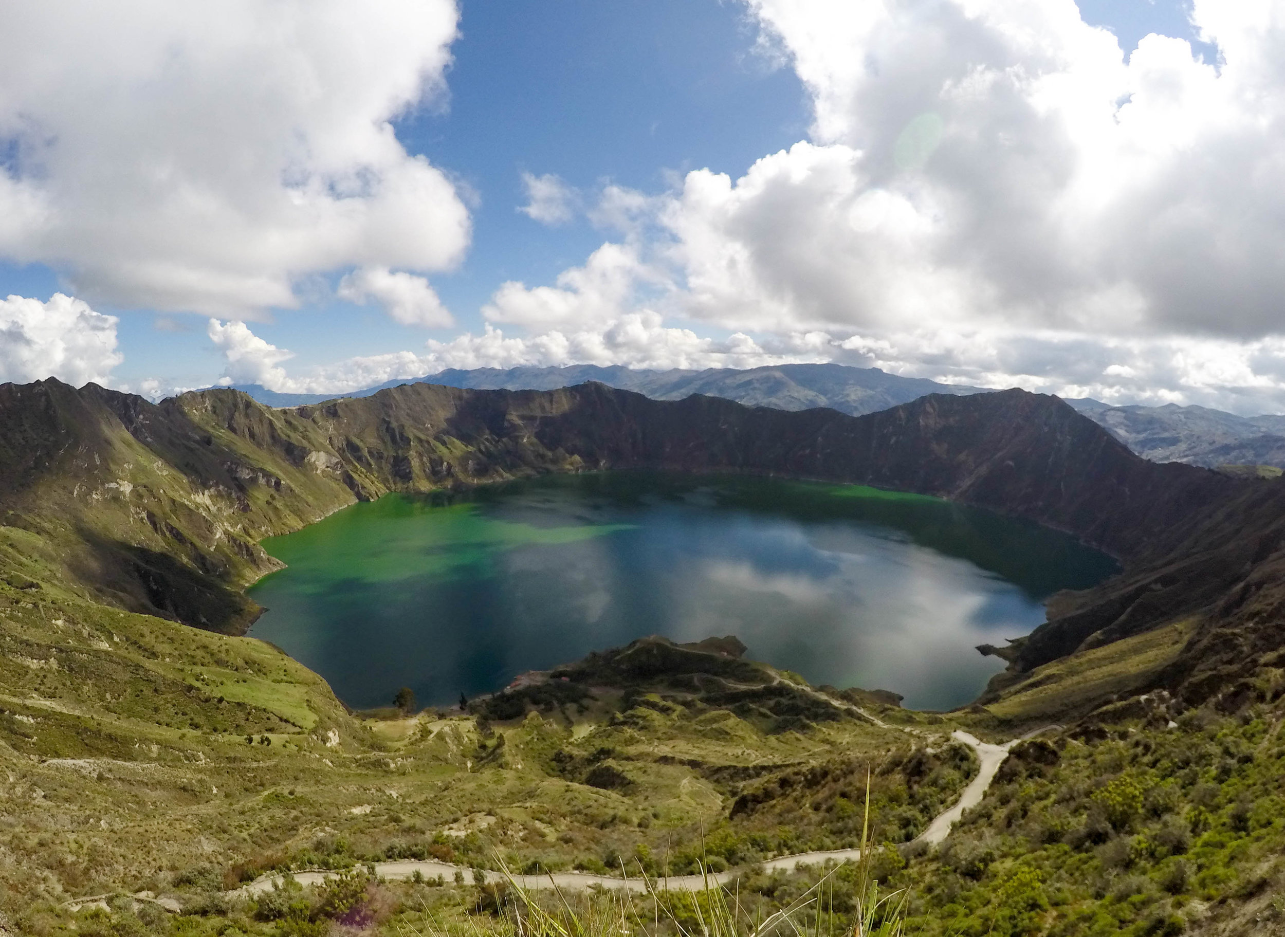 The Crater Lake of Quilotoa, Ecuador