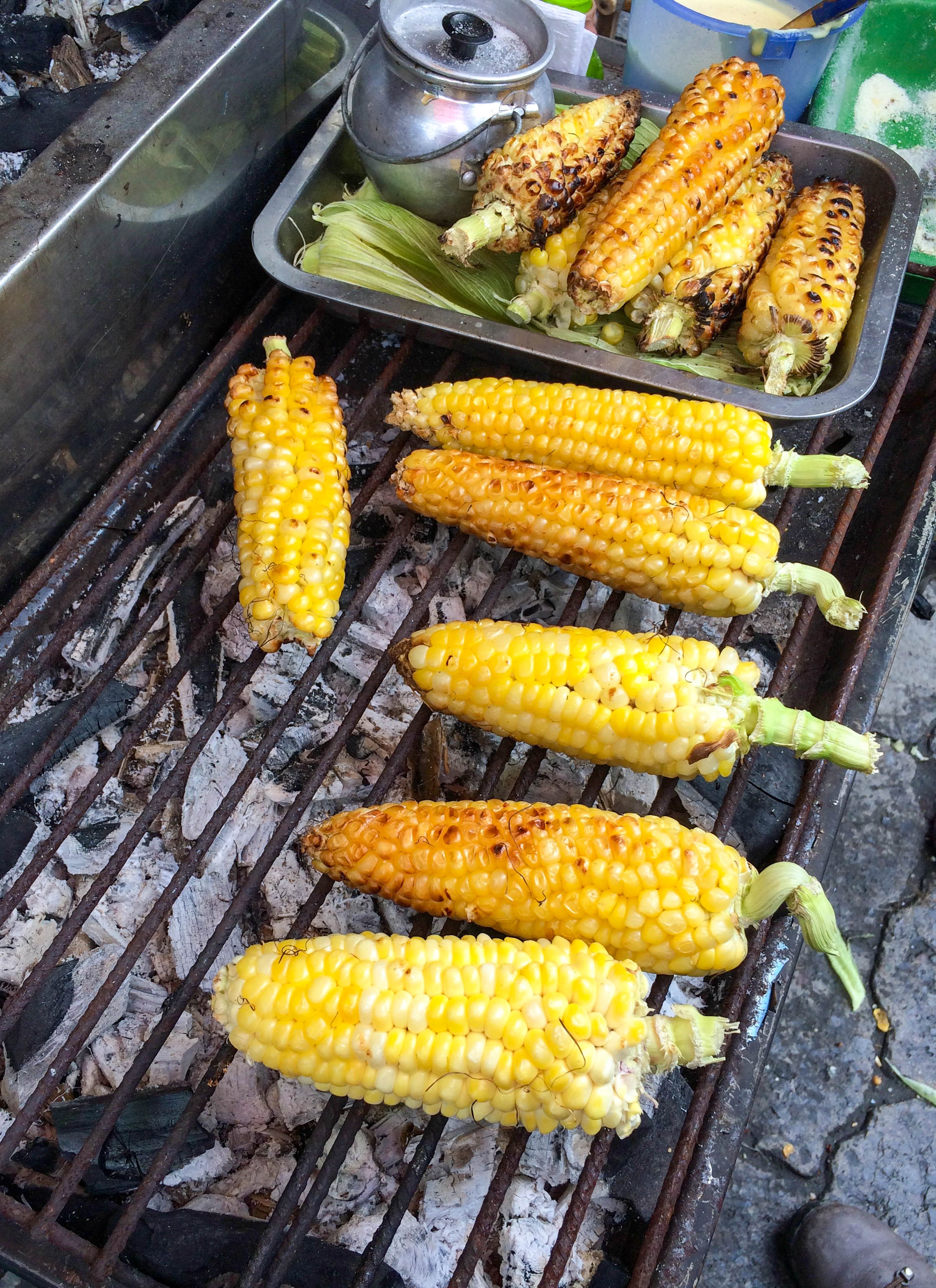 Snack Stop at the BBQ Corn Stand, Ecuador