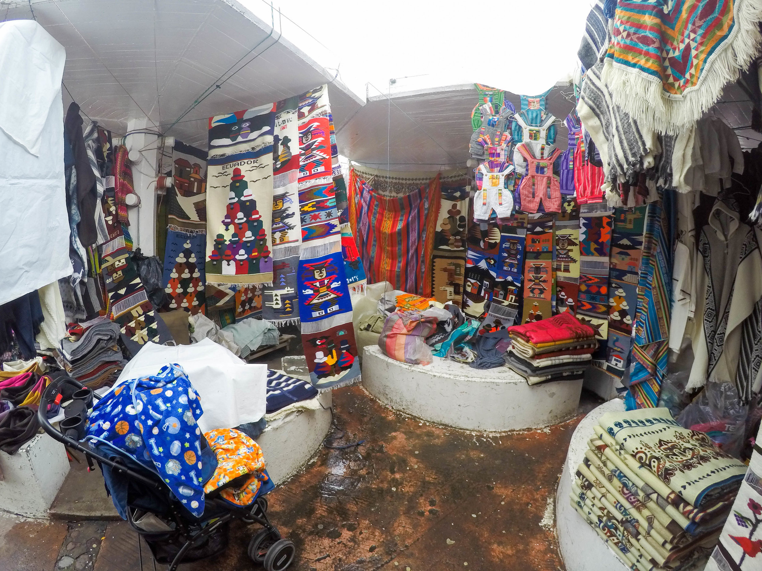 Fabrics and Fashion at Otovalo Market, Ecuador