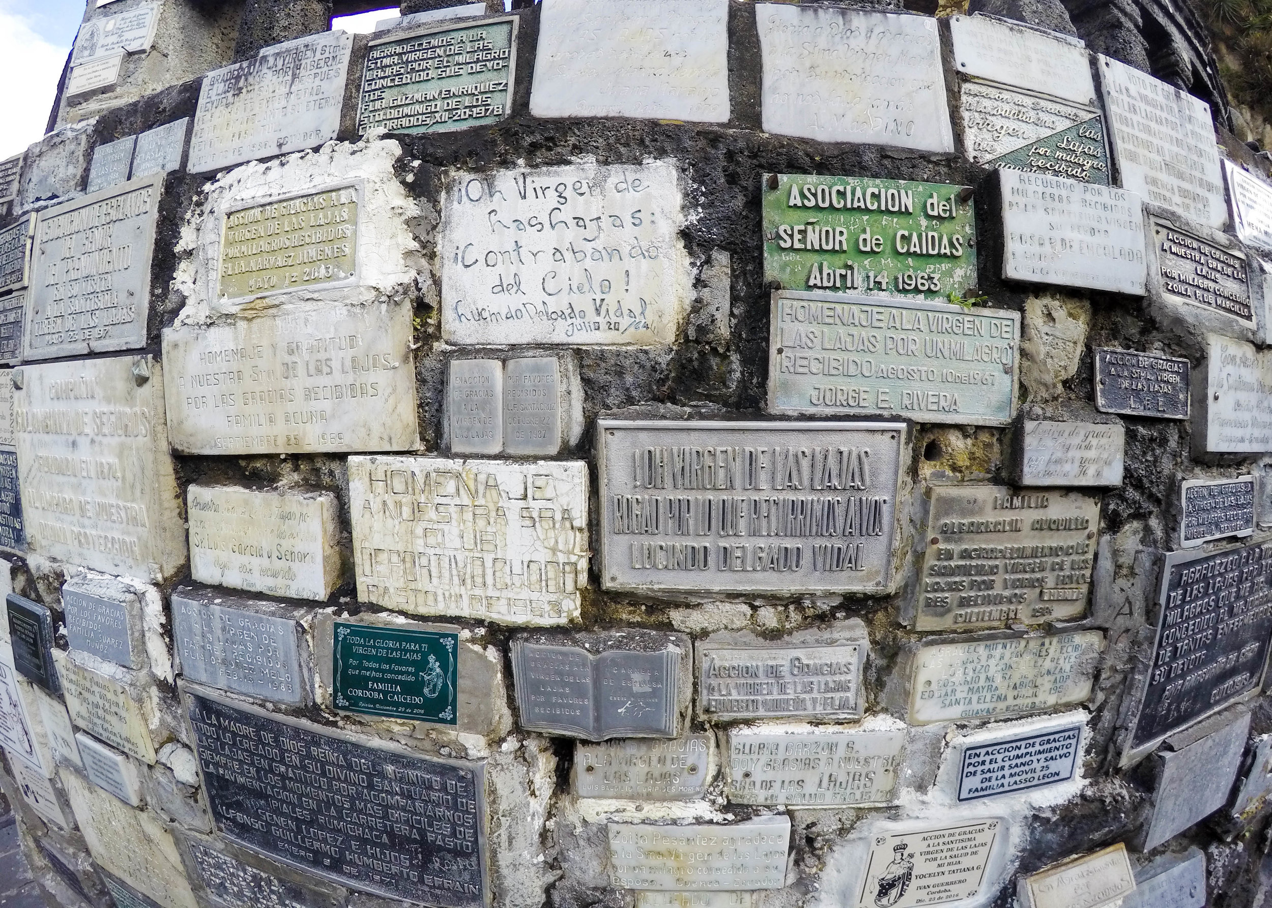 Memoriam Plaques at Las Lajas, Colombia