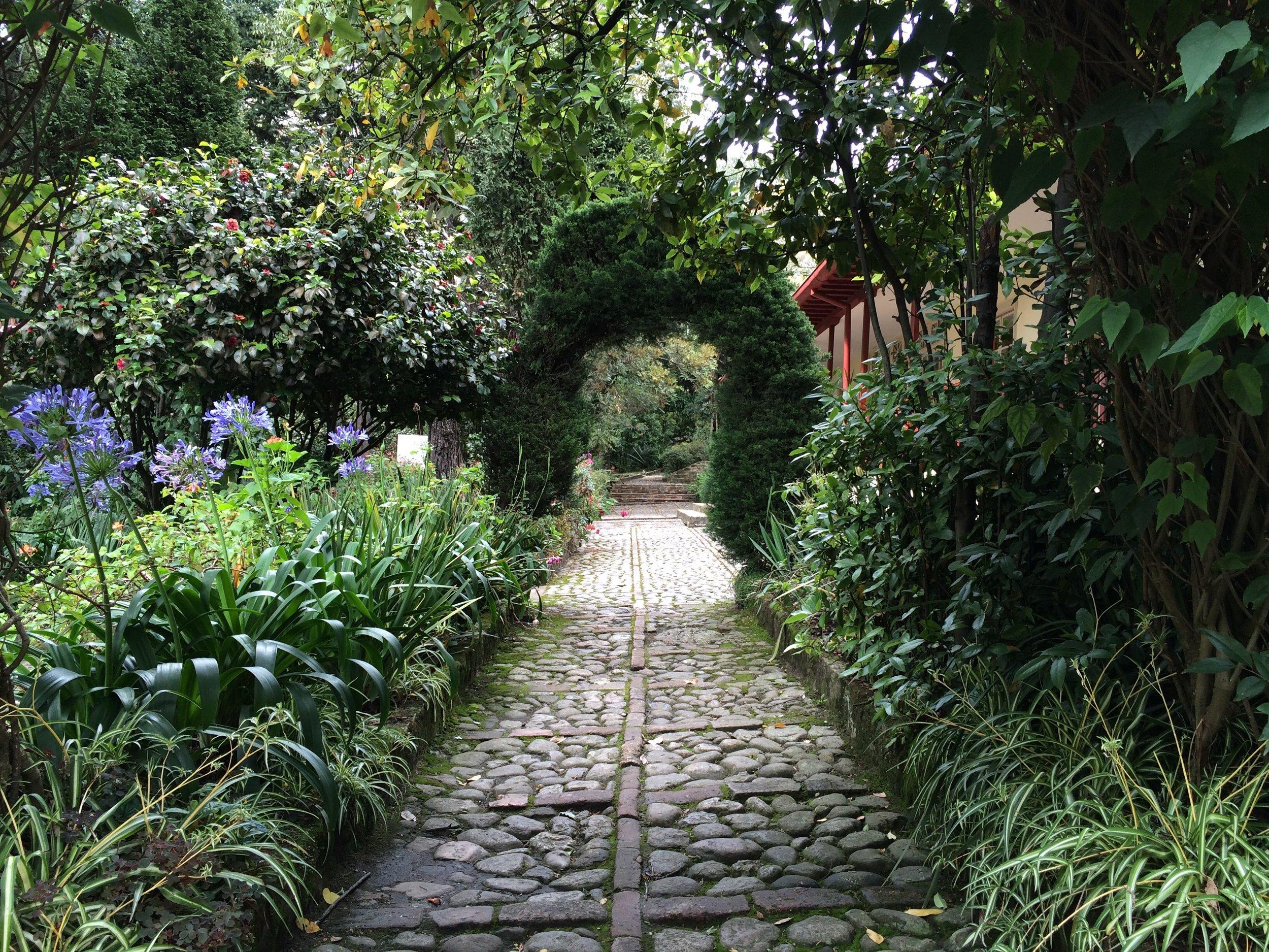 Bolívars a Garden in Bogotá, Colombia