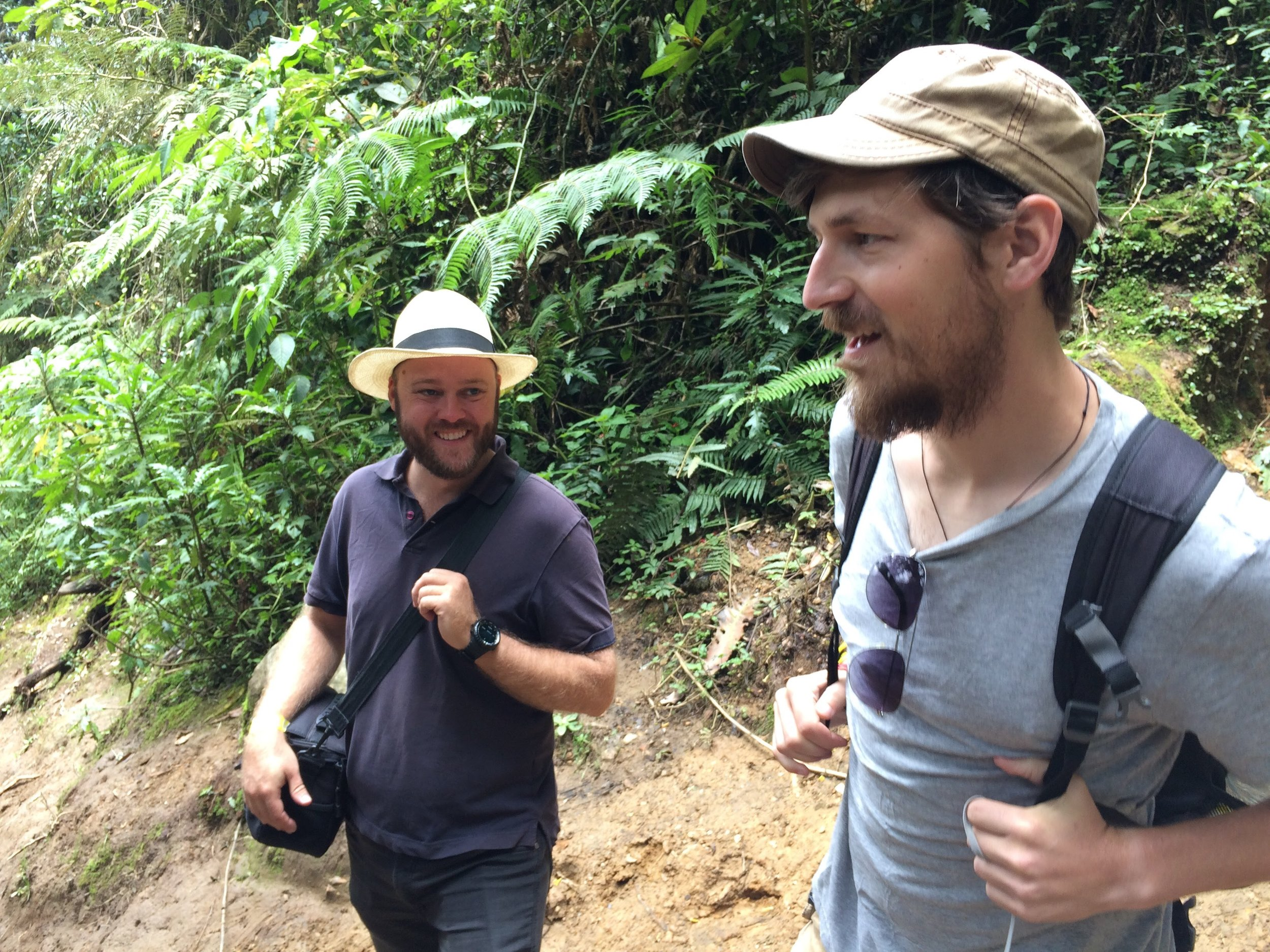 Carl and Craig in the Cocora Valley, Colombia