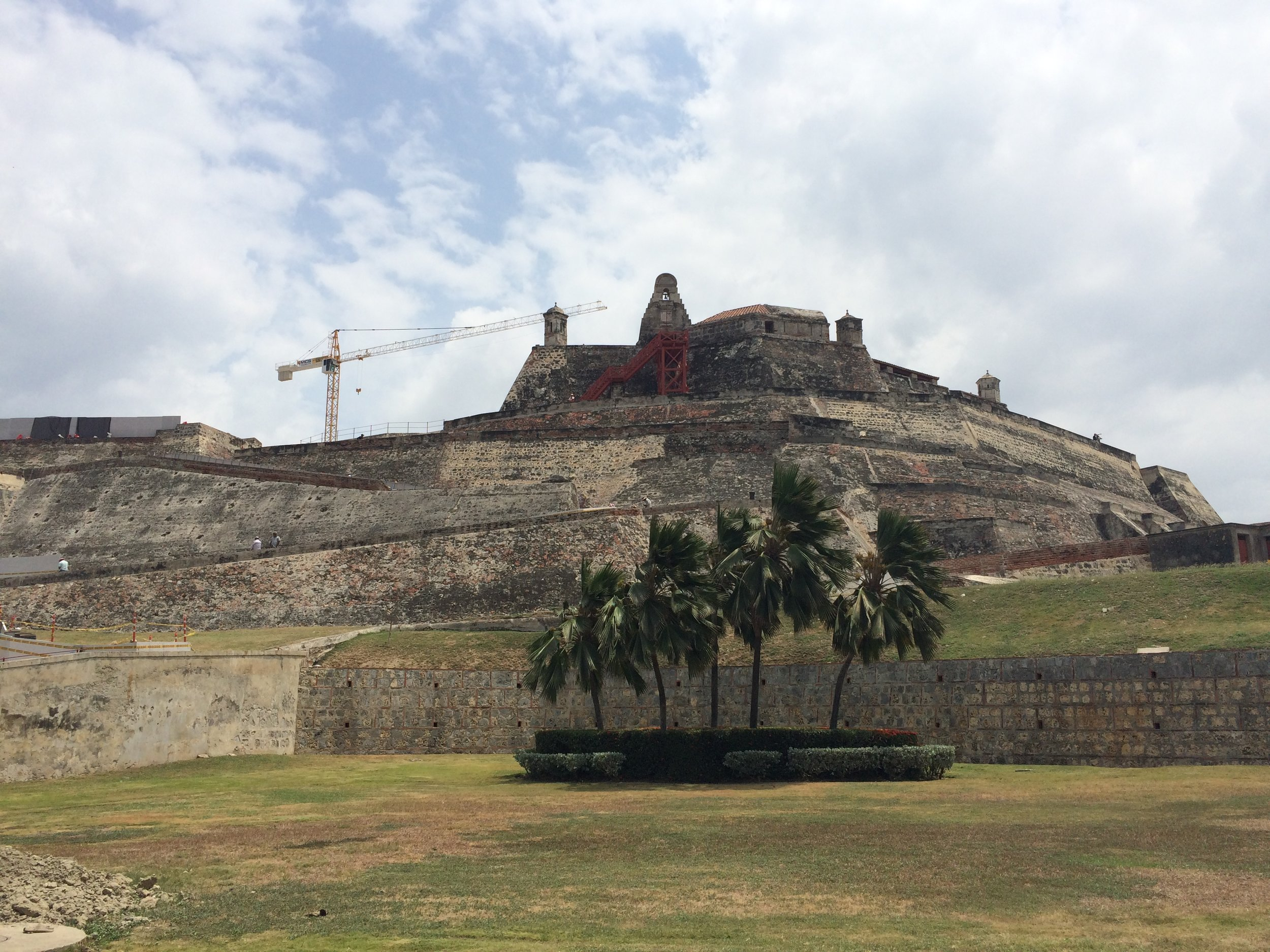 Cartagena's Fort High on a Hill, Colombia