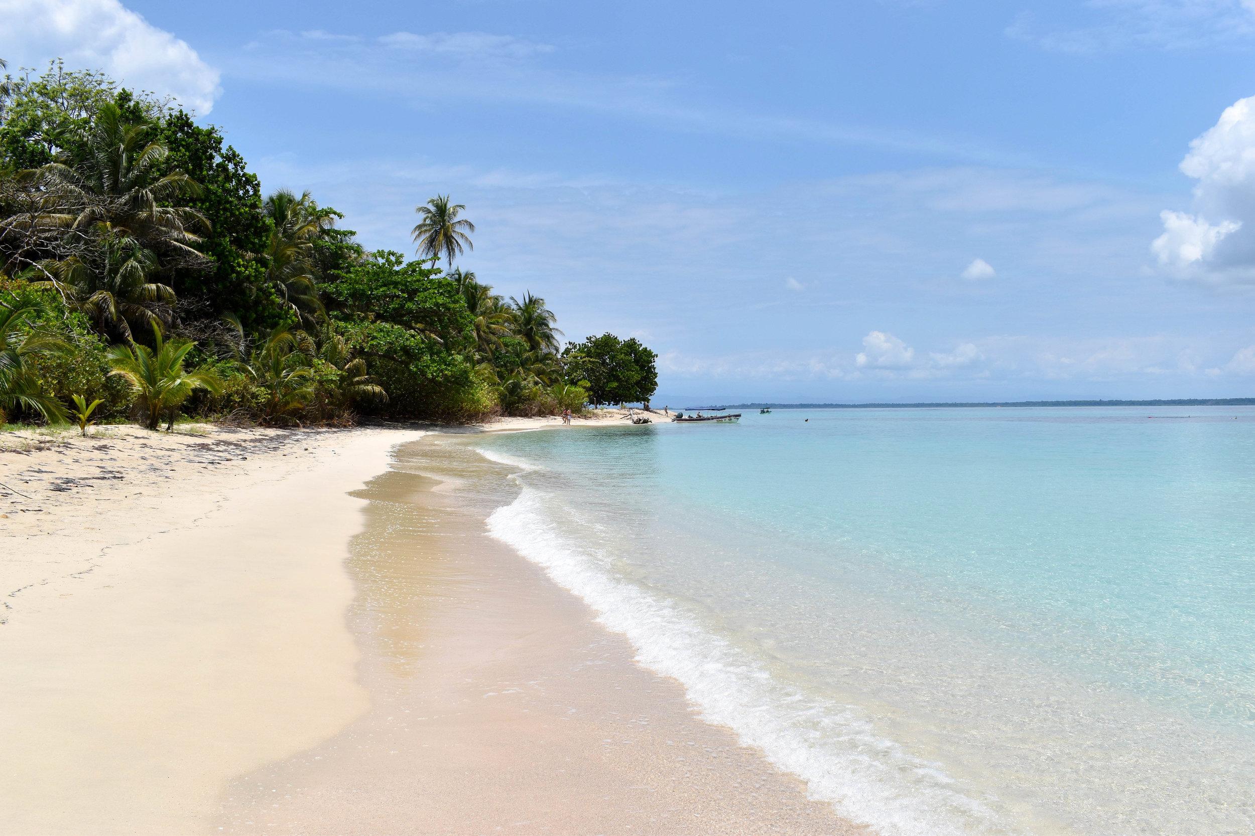 The White Sandy Beach of Cayo Zapatilla in Panama