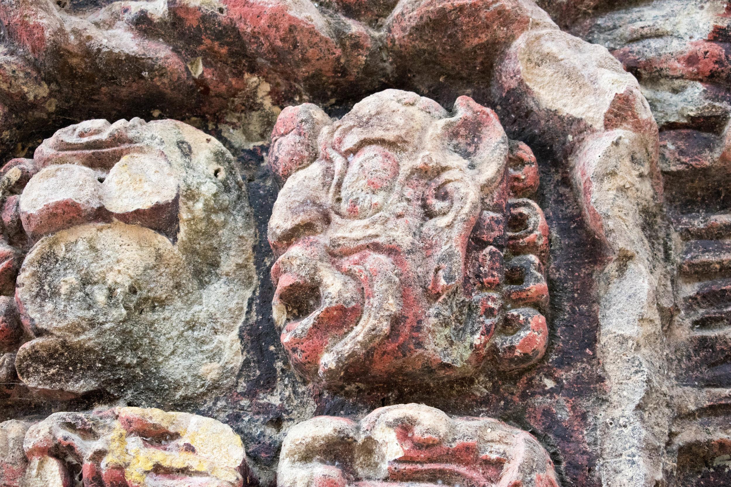 Faces Everywhere in Copán, Honduras