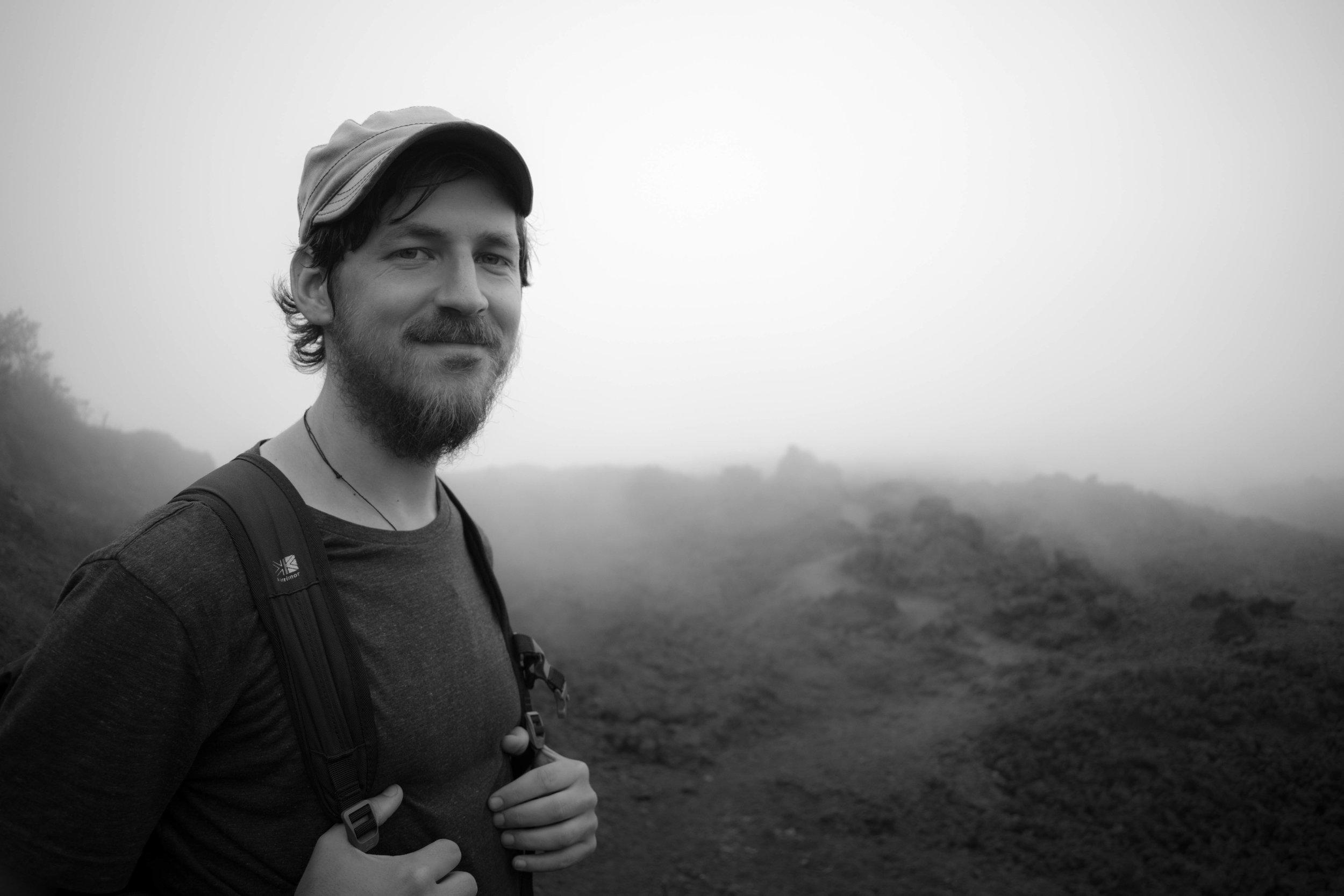A Portrait of Craig in a Lava Field in Guatemala