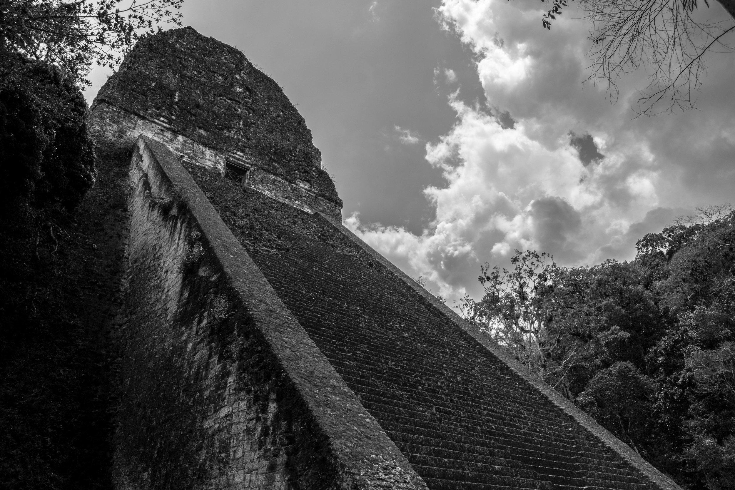 An Impressive Sky at Tikal in Guatemala