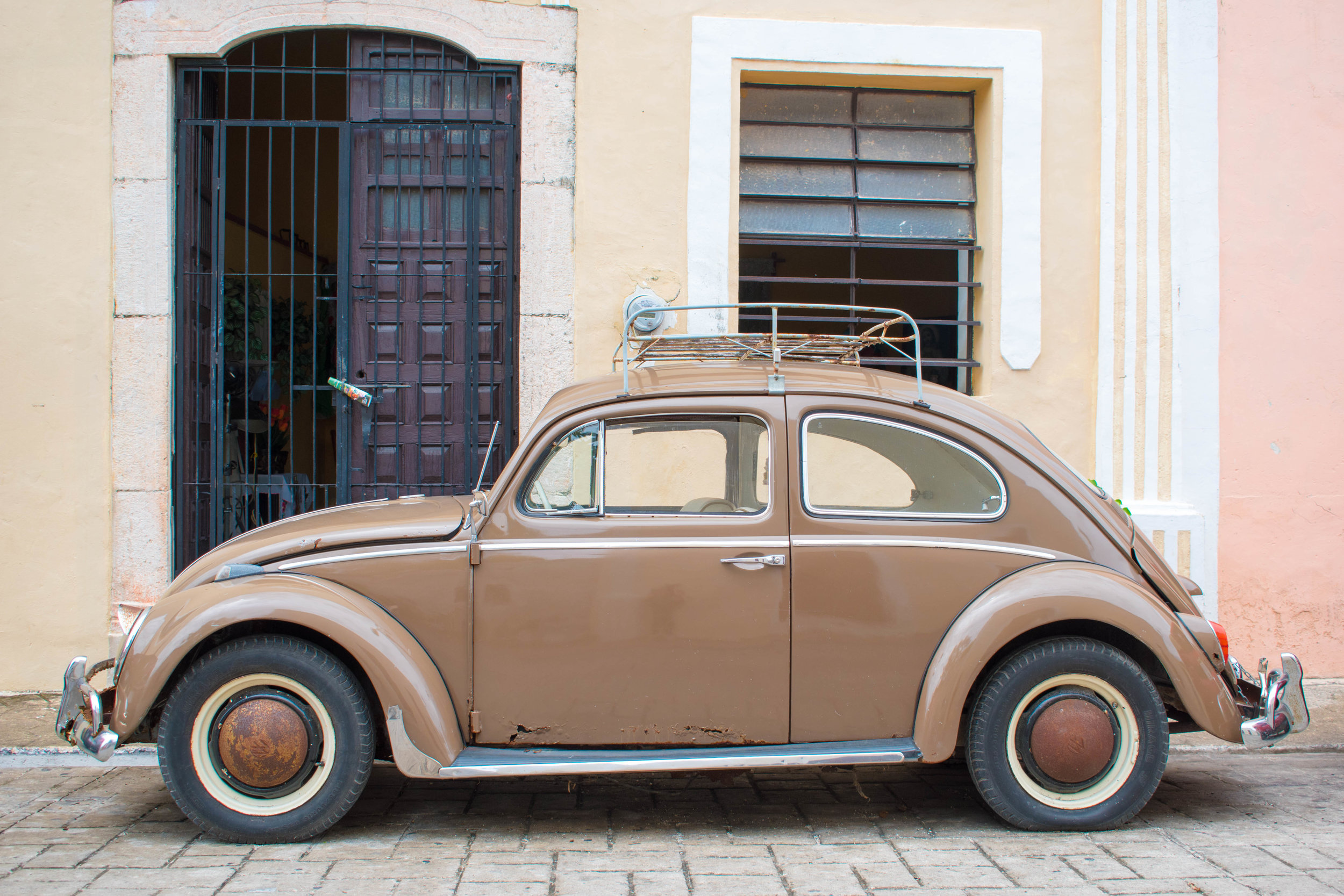 Pastel Colours and A Beetle in Valladolid, Mexico