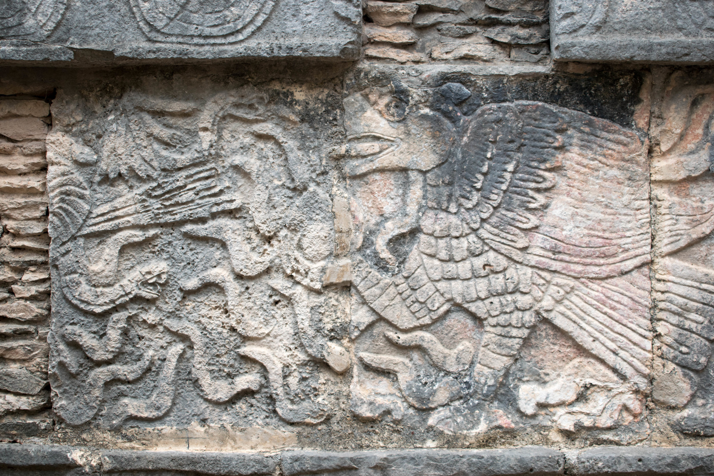 Stone Carvings at Chichén Itzá in Mexico