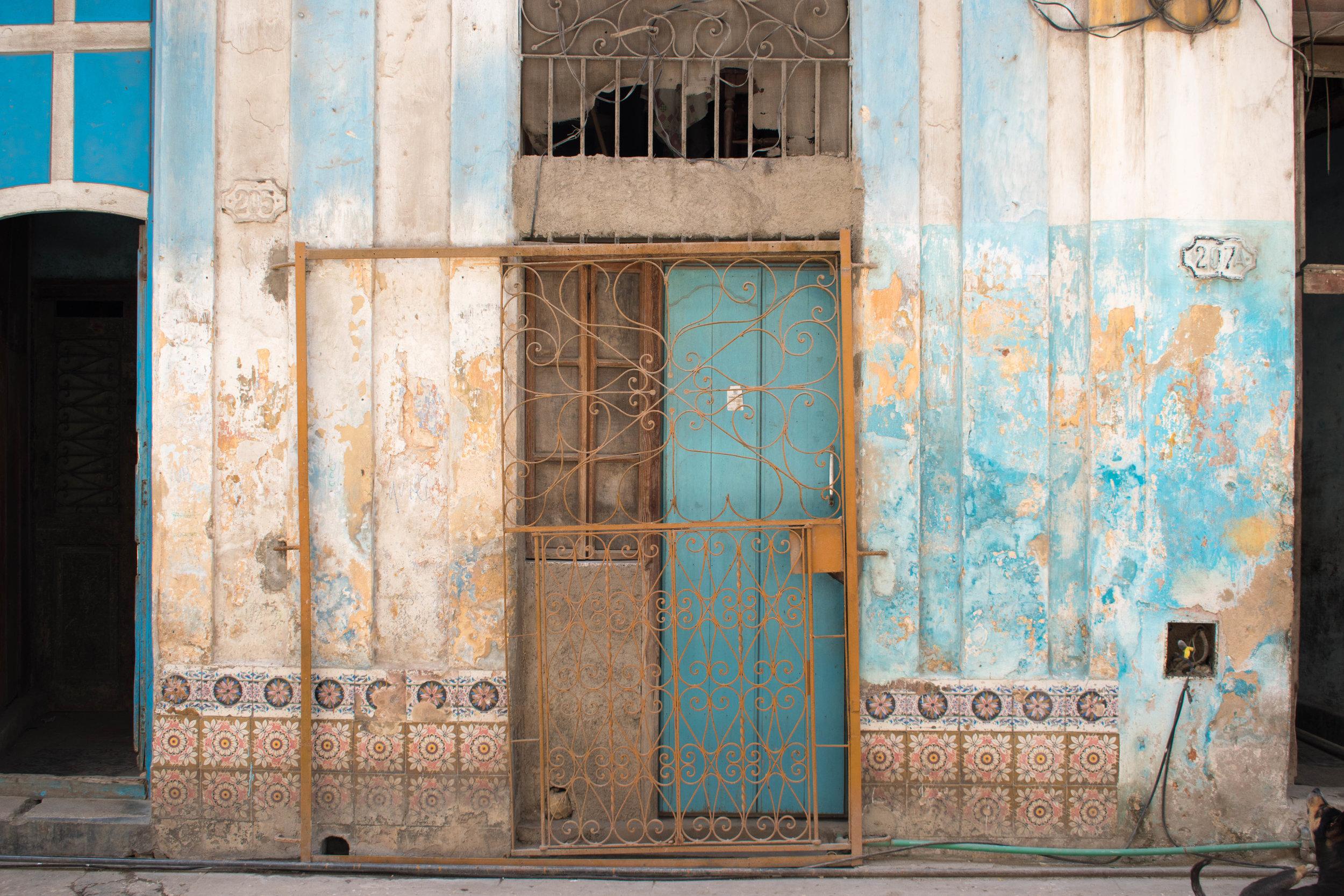 Beautiful Old Building Exteriors in Havana, Cuba