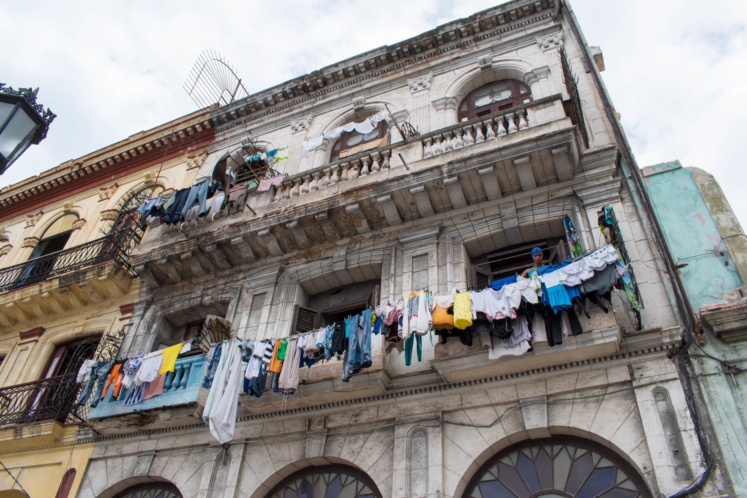 Washing On Lines Is a Common Sight in Havana, Cuba