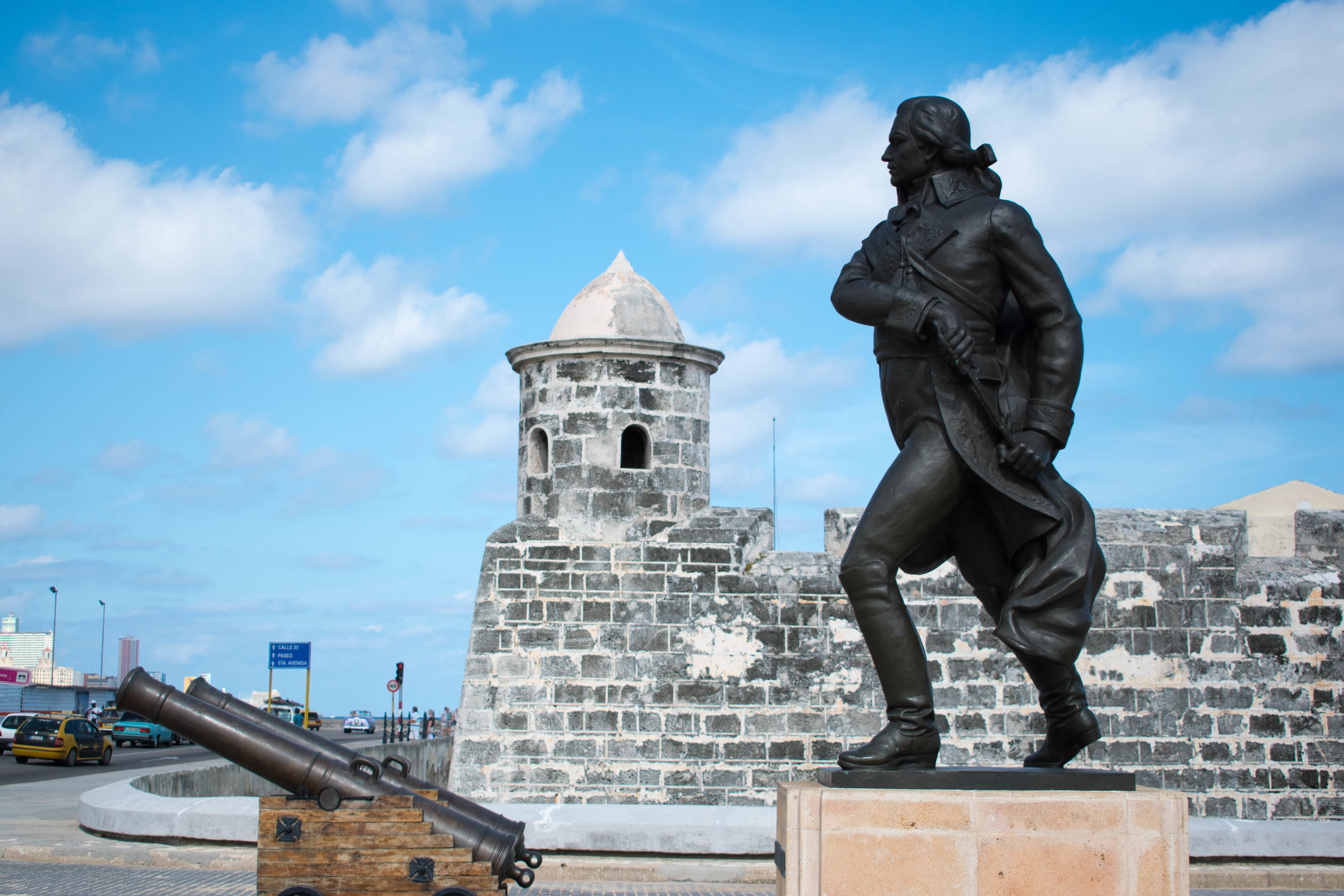 A Fort Overlooking The City and Sea in Havana, Cuba