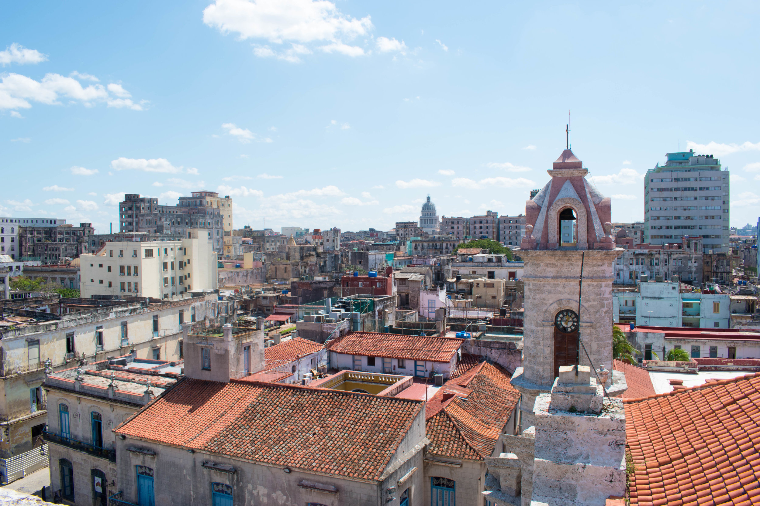 The View From The Ball Tower in Havana, Cuba
