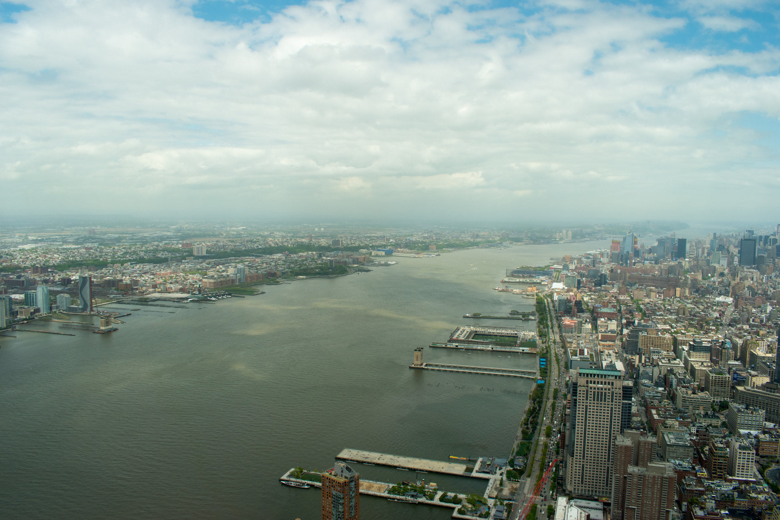 The View Over The Hudson River From One World Trade Center in New York