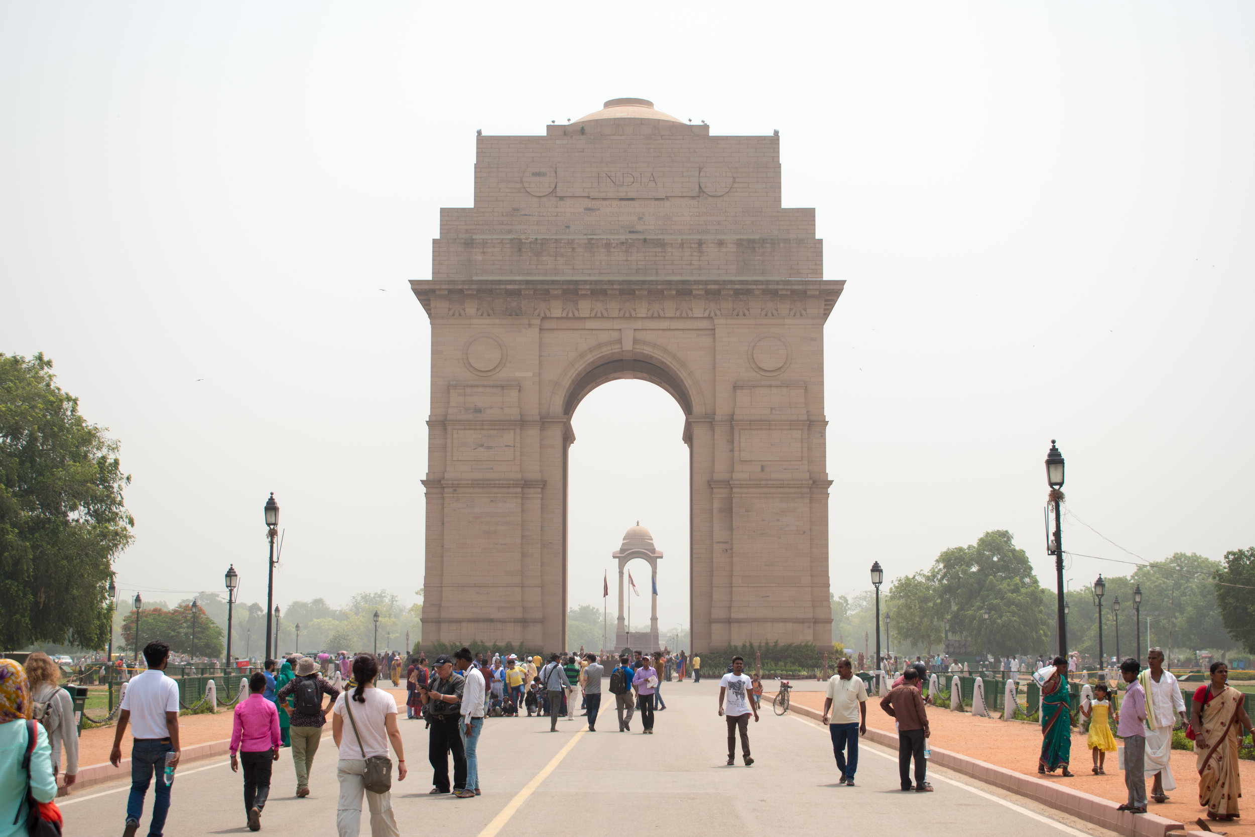 India Gate, Delhi in India