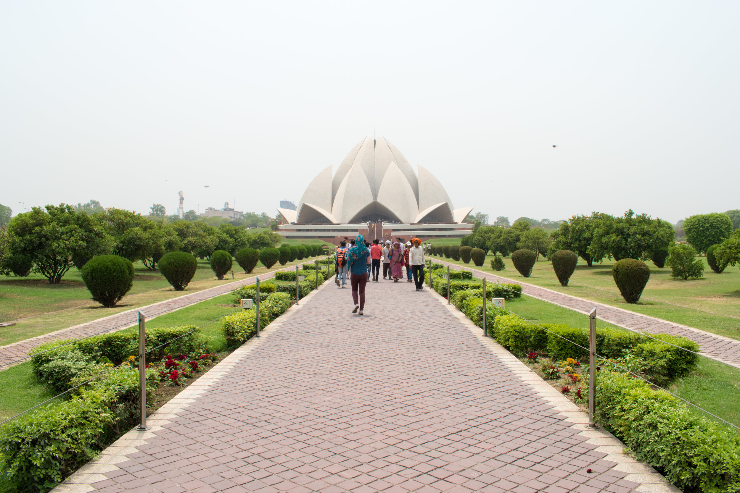 The Lotus Temple in Delhi, India