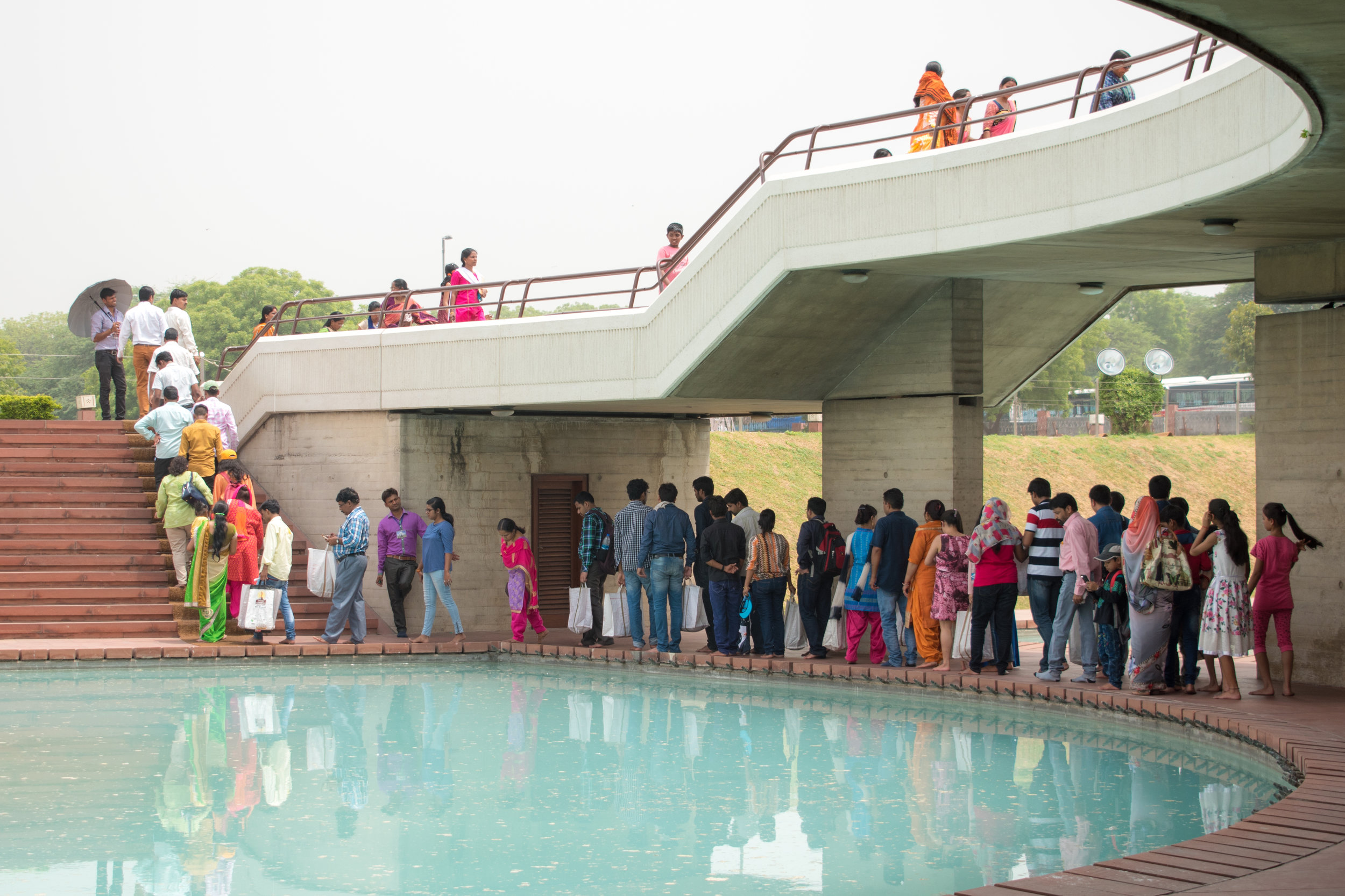 Queueing For The Lotus Temple in Delhi, India